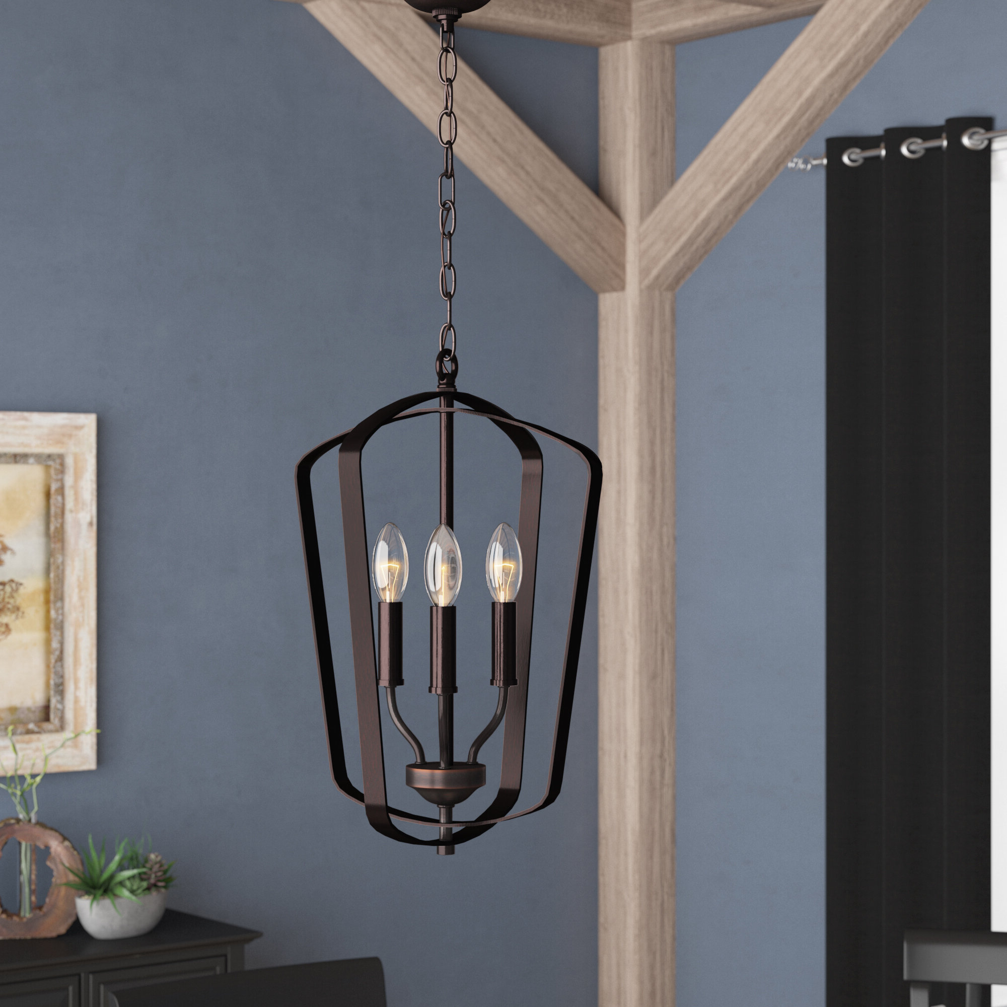 Preferred Firman 3 Light Single Geometric Pendant Regarding Chauvin 3 Light Lantern Geometric Pendants (View 5 of 25)