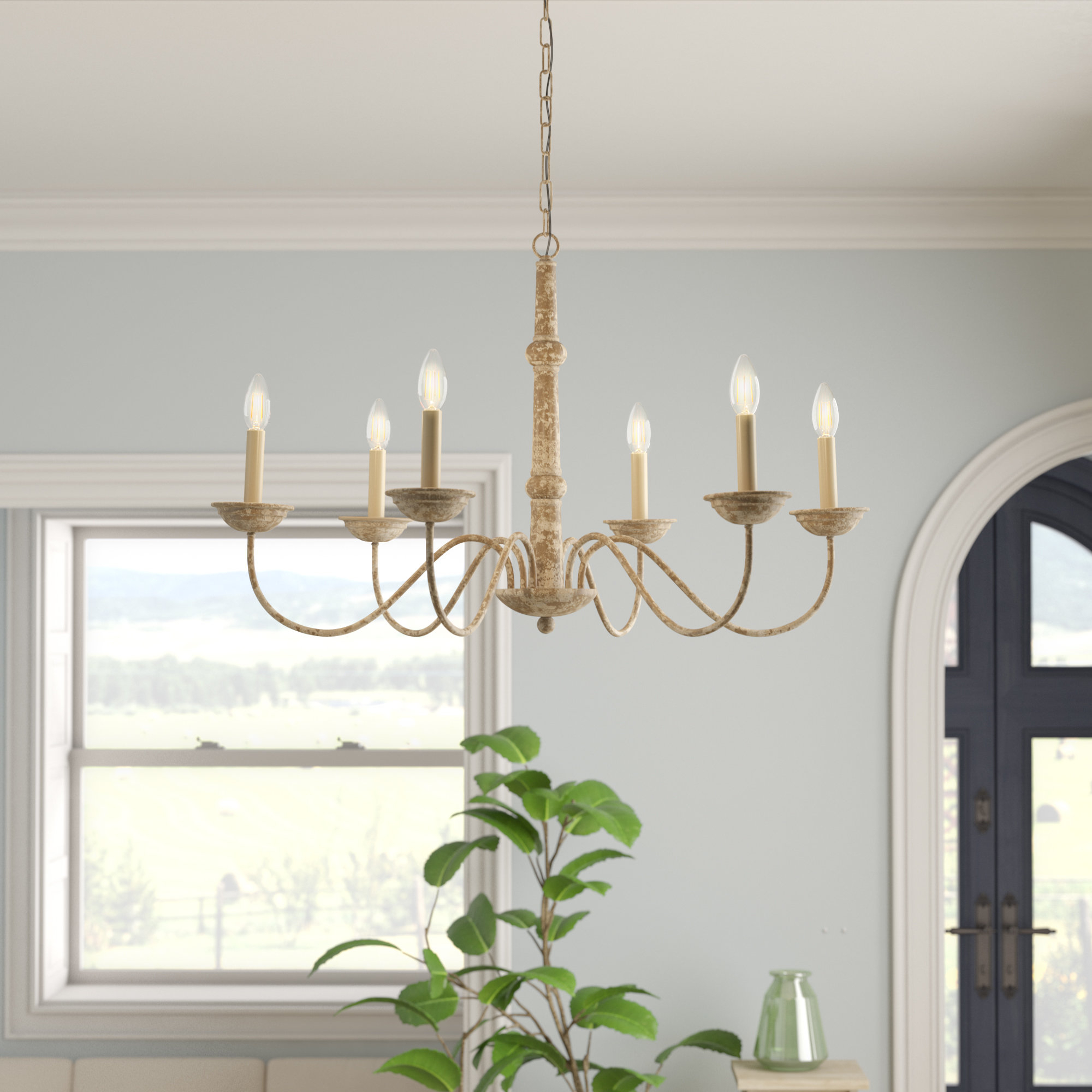 Preferred Gracie Oaks Seneca 6 Light Candle Style Chandelier & Reviews Intended For Armande Candle Style Chandeliers (View 19 of 25)