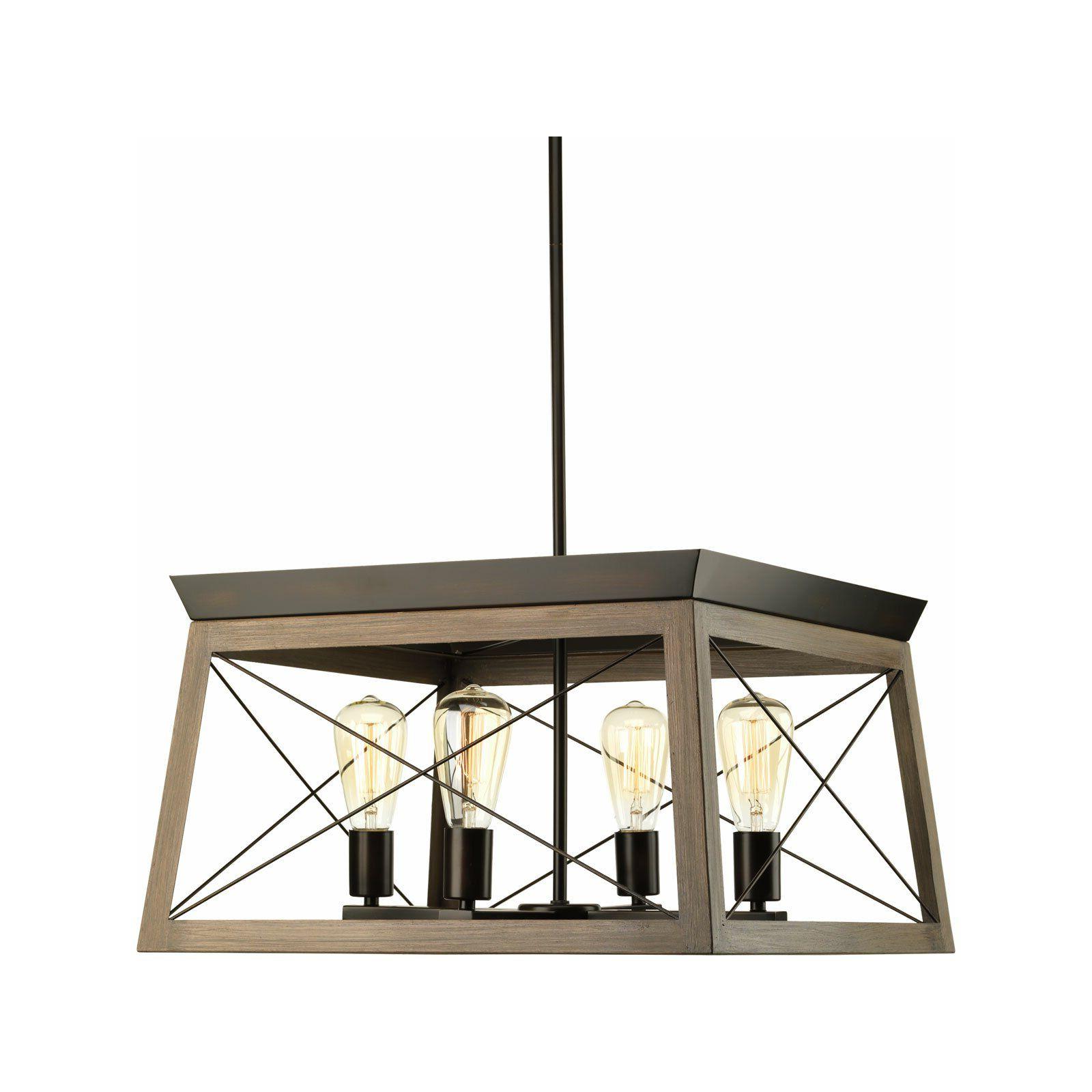 Preferred Laurel Foundry Modern Farmhouse Delon 4 Light Square In Delon 4 Light Square Chandeliers (View 18 of 25)