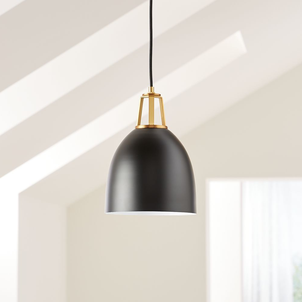 Preferred Maddox Black Dome Pendant Small With Brass Socket In 2019 Intended For Ryker 1 Light Single Dome Pendants (View 18 of 25)