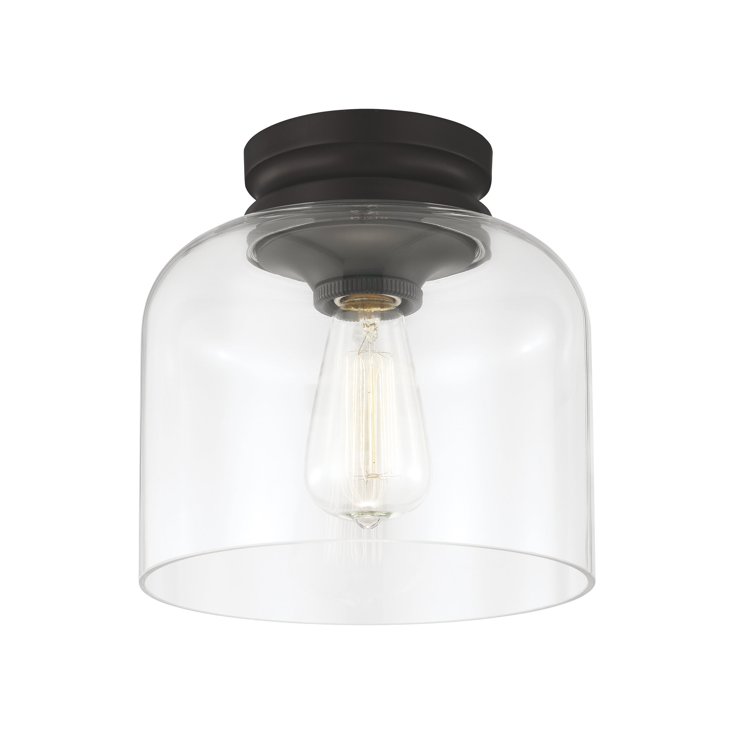 Preferred Nolan 1 Light Lantern Chandeliers In Nolan 1 Light Semi Flush Mount (View 19 of 25)