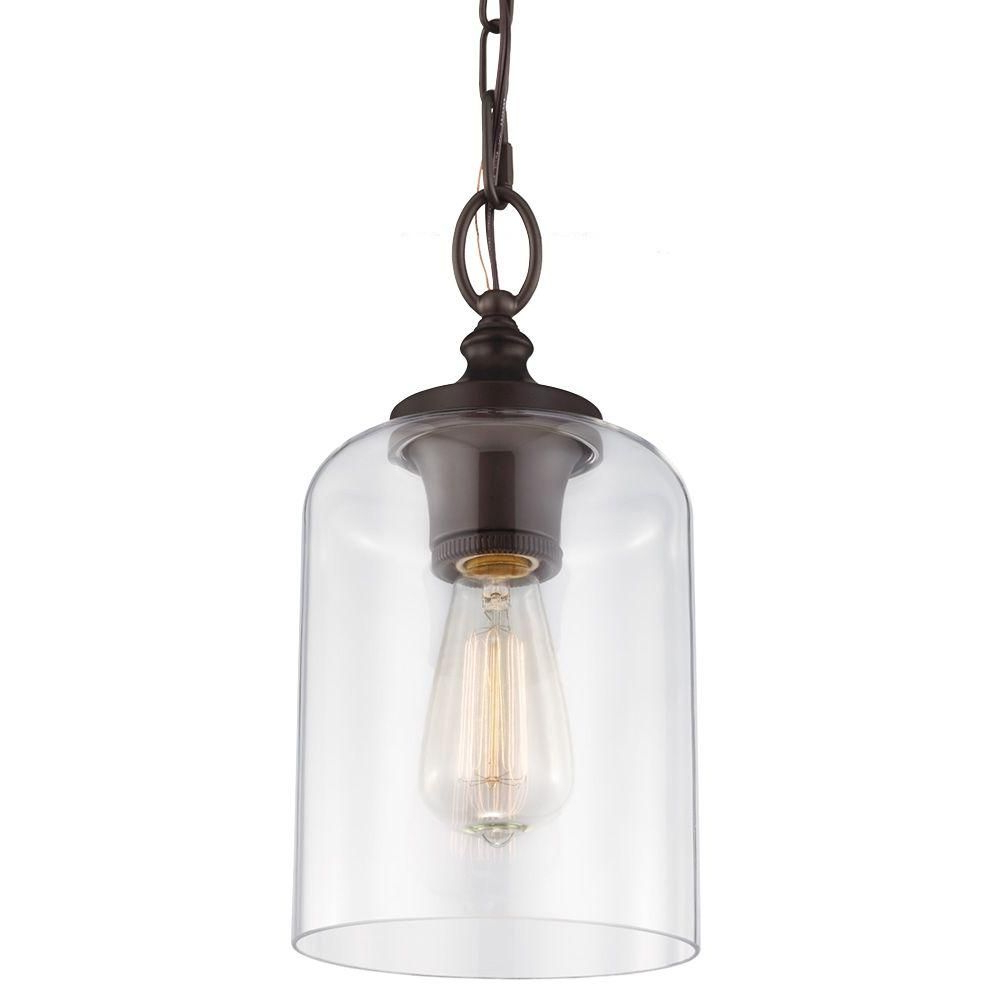 Preferred Nolan 1 Light Single Cylinder Pendants Pertaining To Westinghouse 1 Light Oil Rubbed Bronze Adjustable Mini (View 20 of 25)
