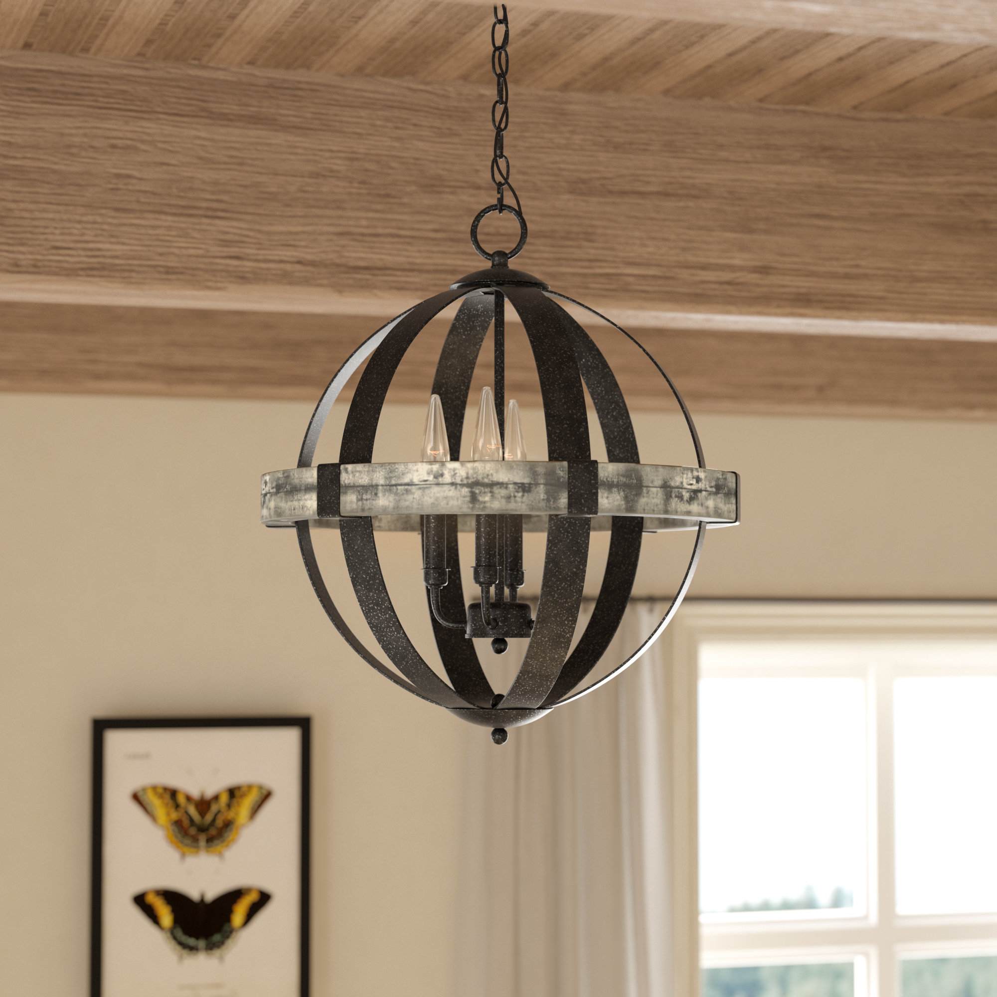 Preferred Ricciardo 4 Light Globe Chandeliers Pertaining To Globe Wood Chandeliers You'll Love In  (View 14 of 25)
