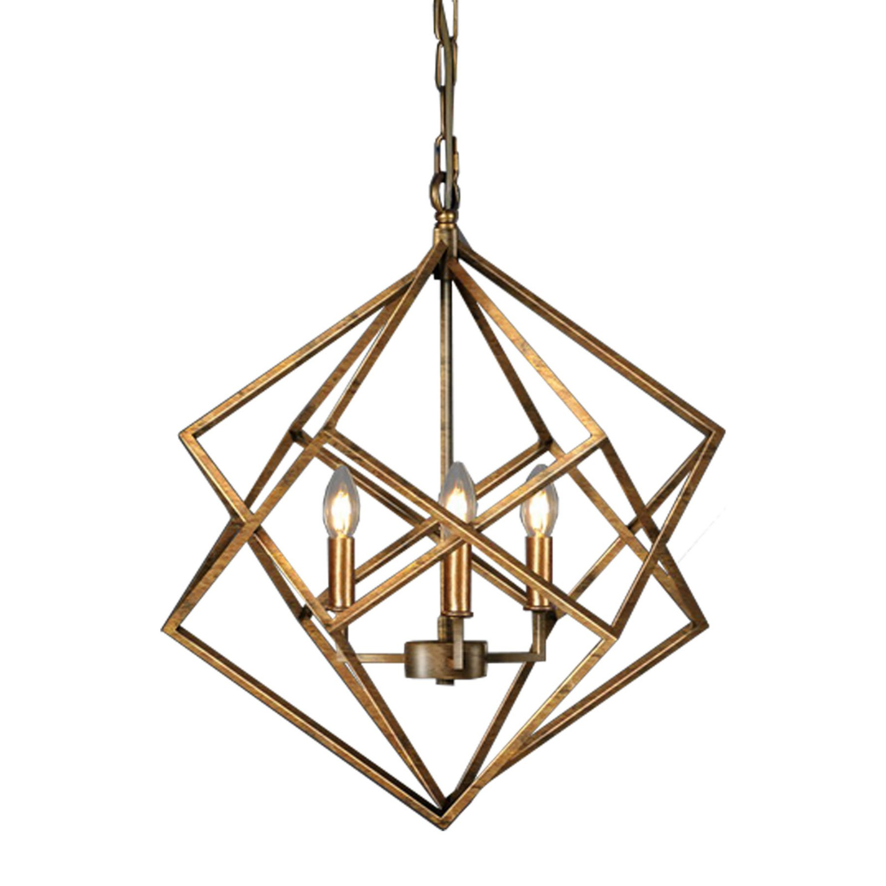 Products In Within Cavanagh 4 Light Geometric Chandeliers (View 18 of 25)