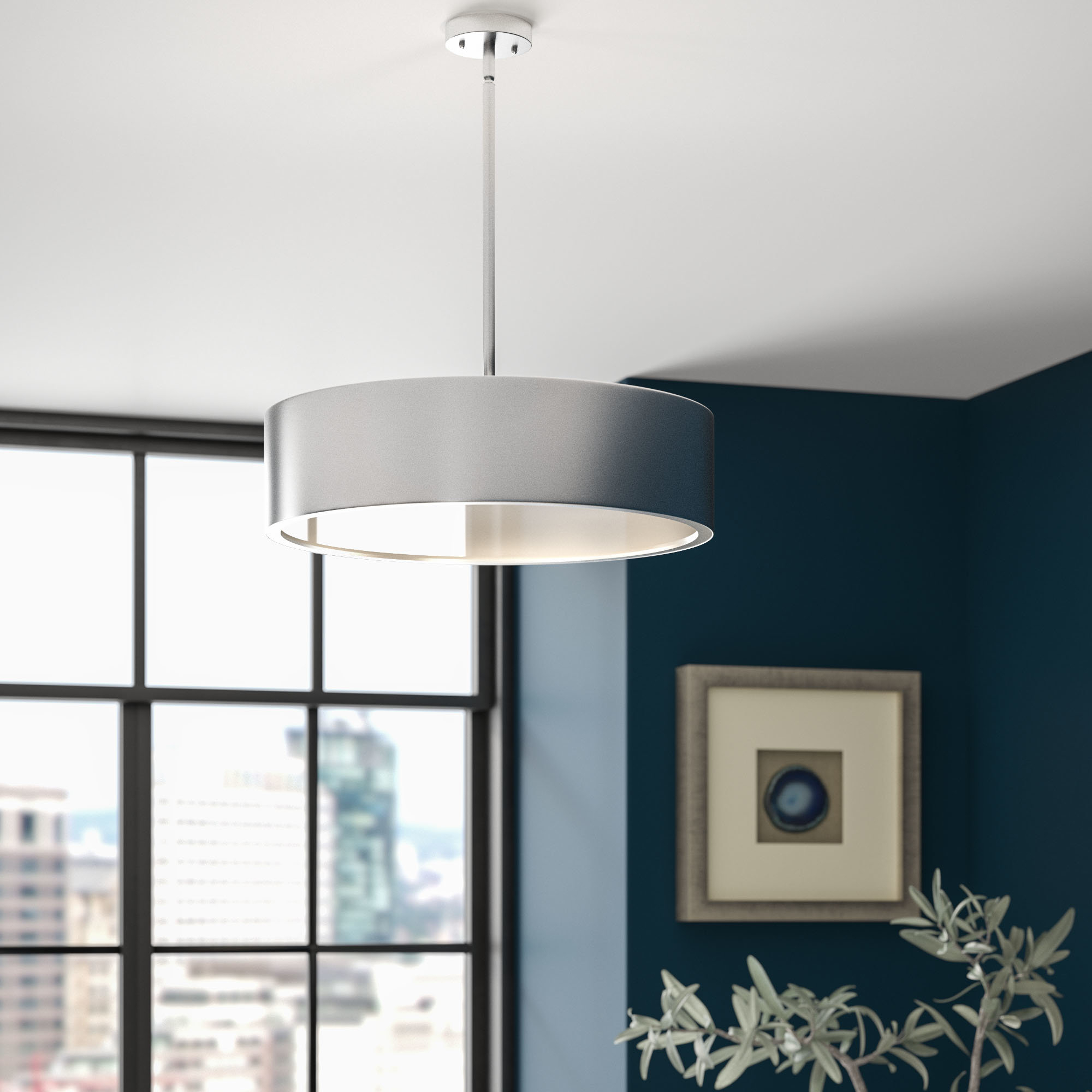 Radtke 3 Light Single Drum Pendant Inside Most Popular Kasey 3 Light Single Drum Pendants (View 4 of 25)