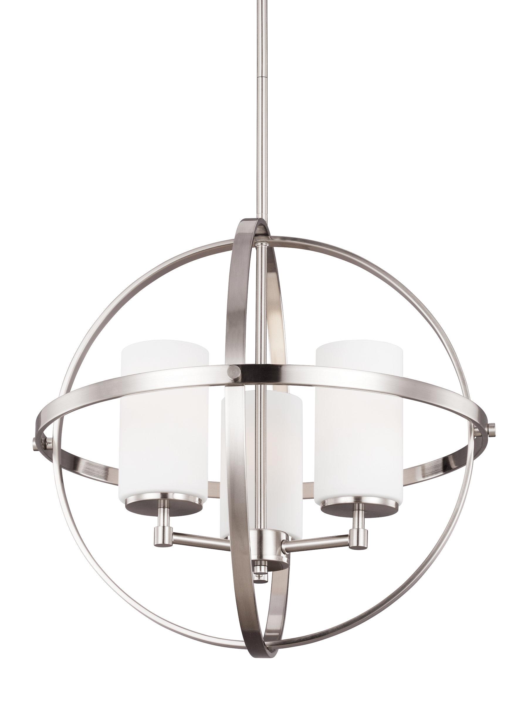 Raine 3 Light Globe Chandelier Throughout Recent La Sarre 3 Light Globe Chandeliers (View 12 of 25)