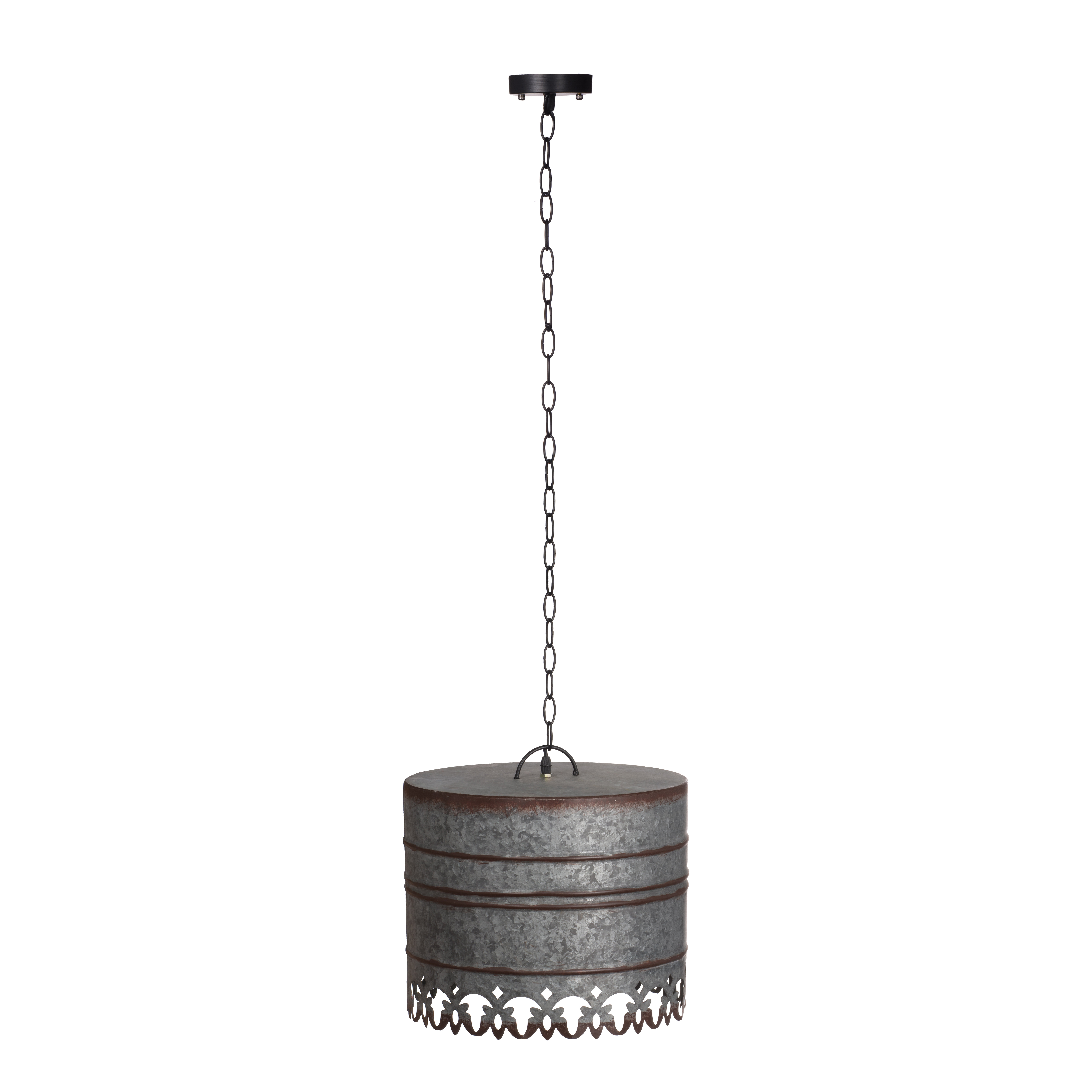 Rayne Iron Round Ceiling 1 Light Drum Pendant Regarding Widely Used Hermione 1 Light Single Drum Pendants (View 20 of 25)