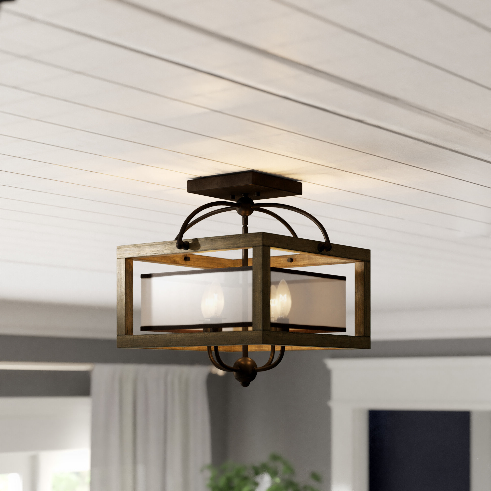 Recent Aadhya 4 Light Square/rectangle Chandelier Pertaining To Delon 4 Light Square Chandeliers (View 14 of 25)