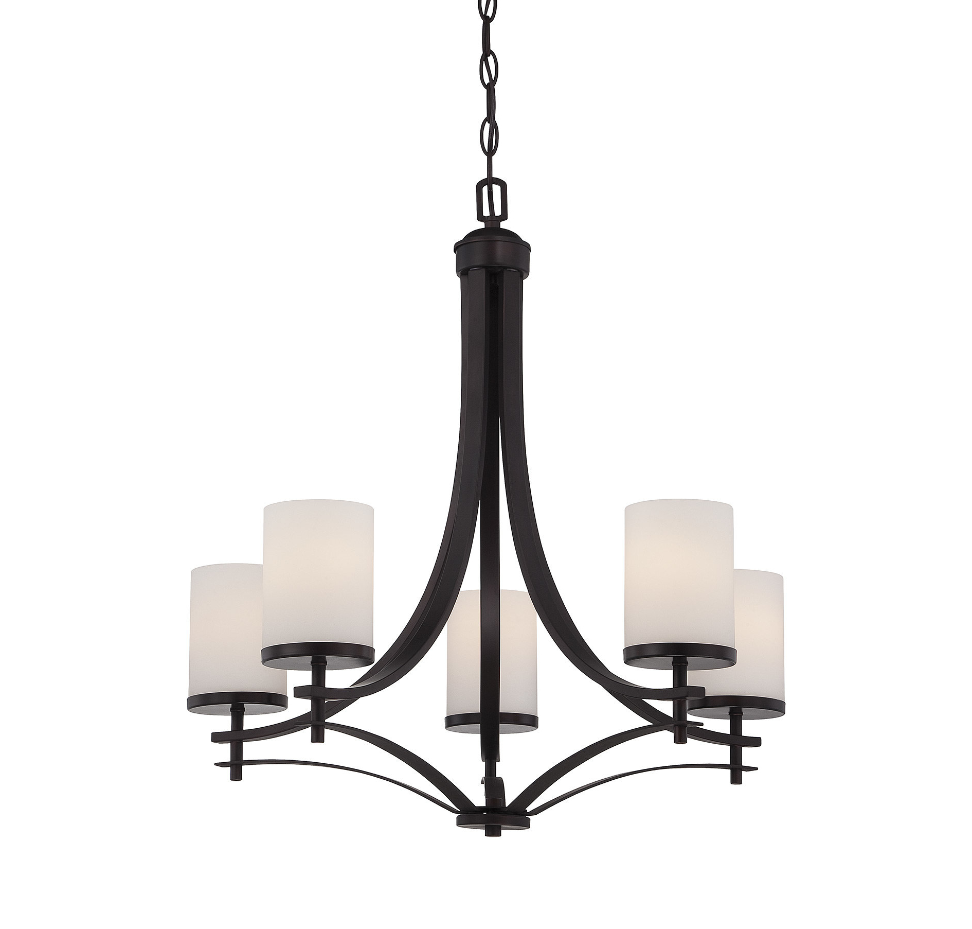 Recent Agnes 5-Light Shaded Chandelier for Kenna 5-Light Empire Chandeliers