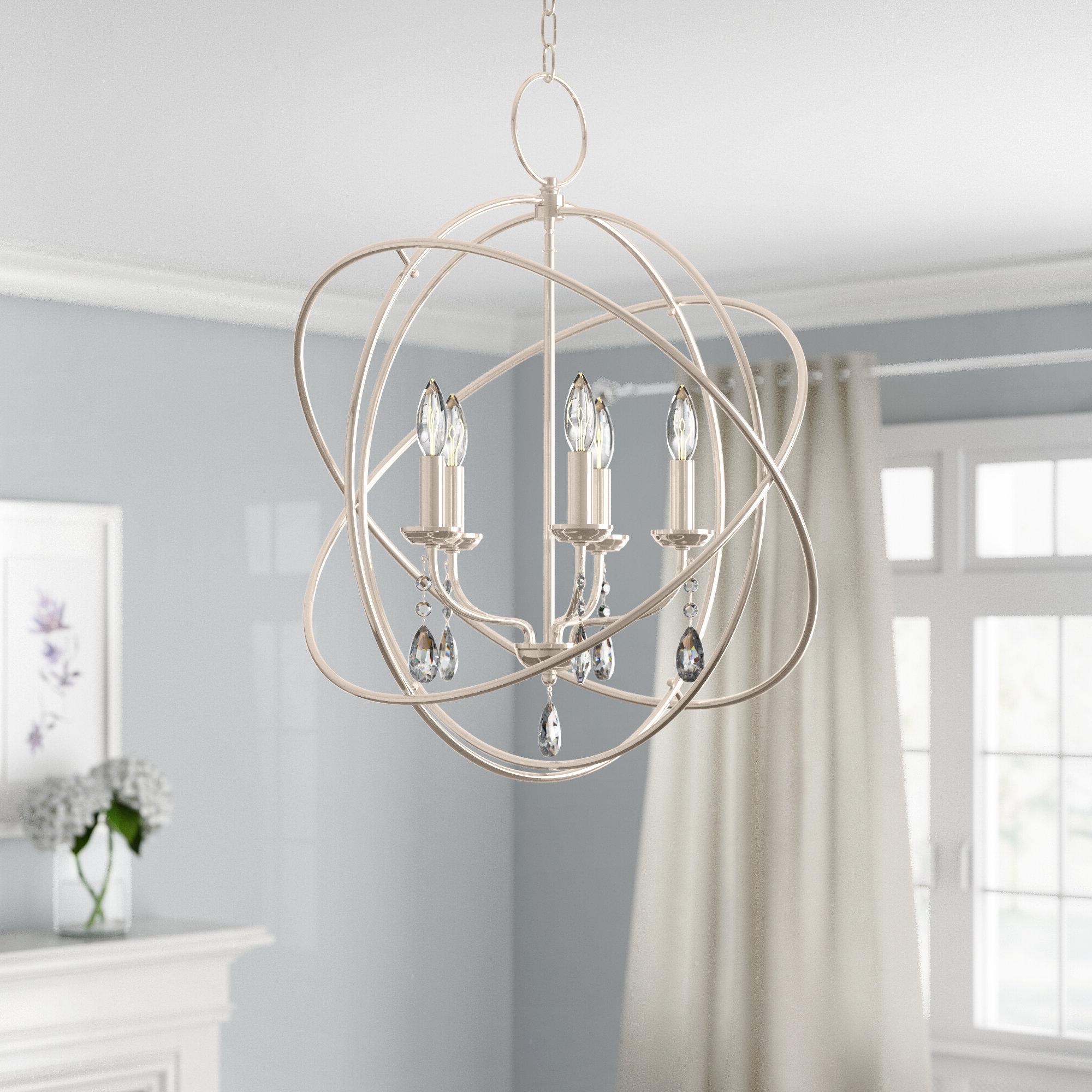 Recent Auberta 5-Light Globe Chandelier pertaining to Verlene Foyer 5-Light Globe Chandeliers