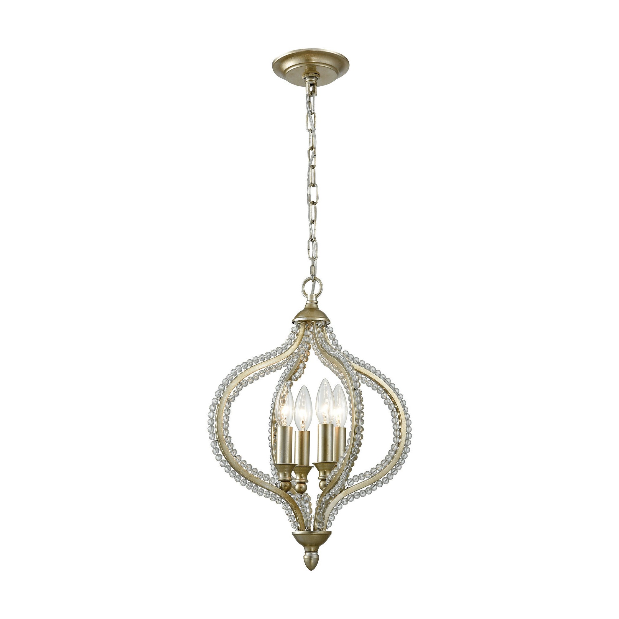 Recent Bennington 4 Light Pendant, Aged Silver Pertaining To Bennington 6 Light Candle Style Chandeliers (View 17 of 25)
