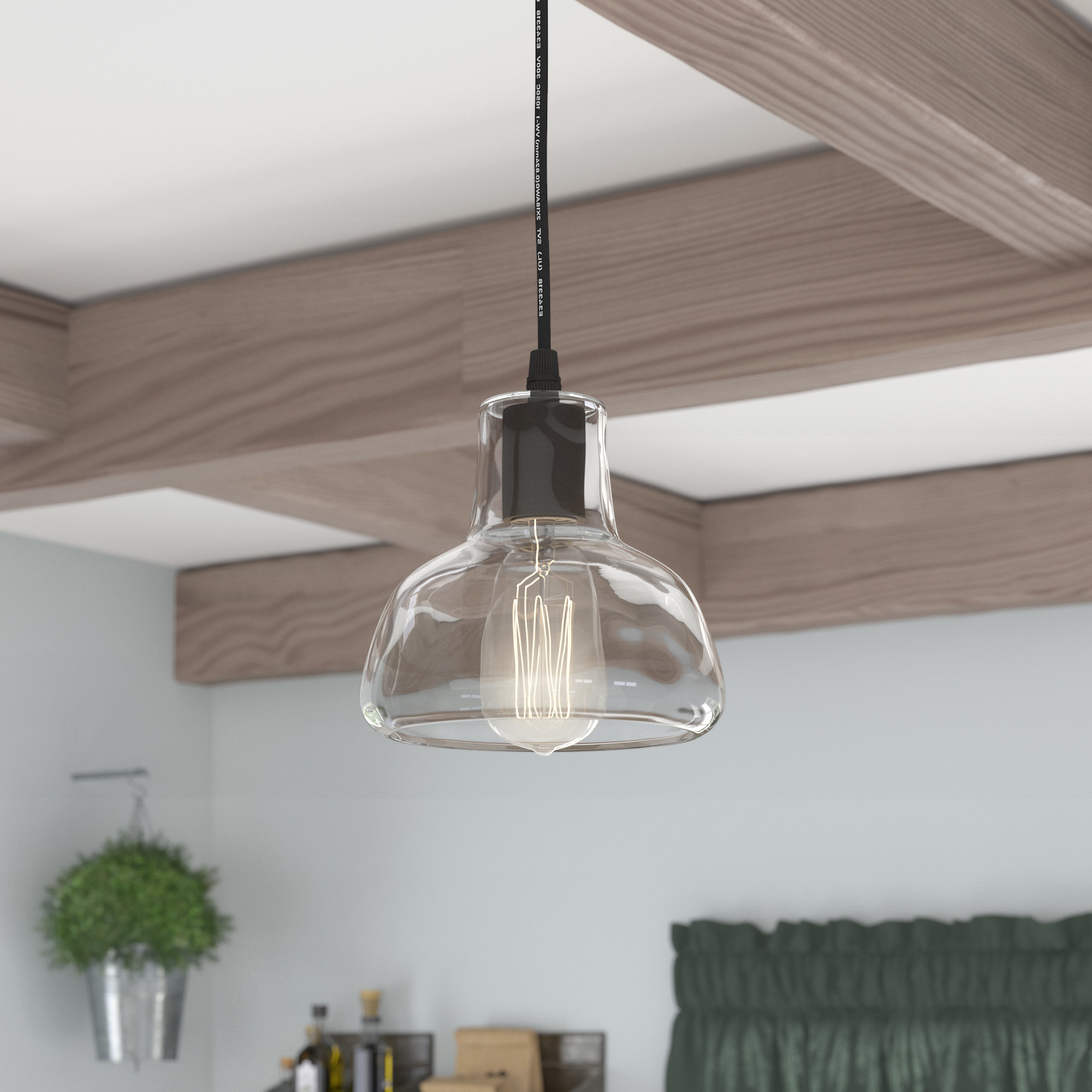 Recent Bouvet 1-Light Dome Pendant pertaining to Terry 1-Light Single Bell Pendants