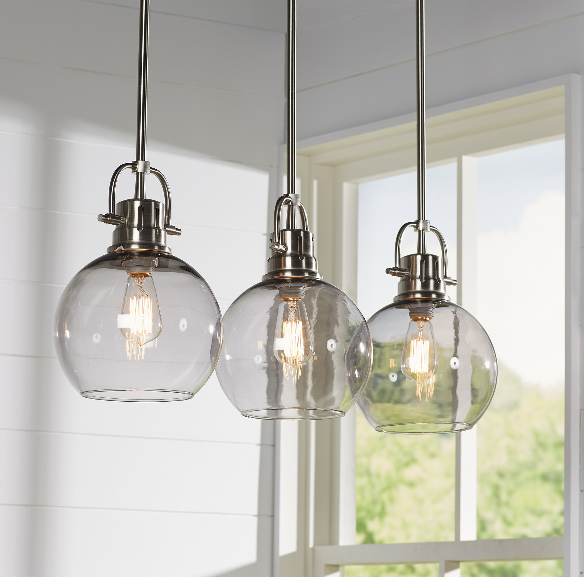 Recent Brayden Studio Josephus 3-Light Kitchen Island Linear Pendant throughout Ariel 3-Light Kitchen Island Dome Pendants