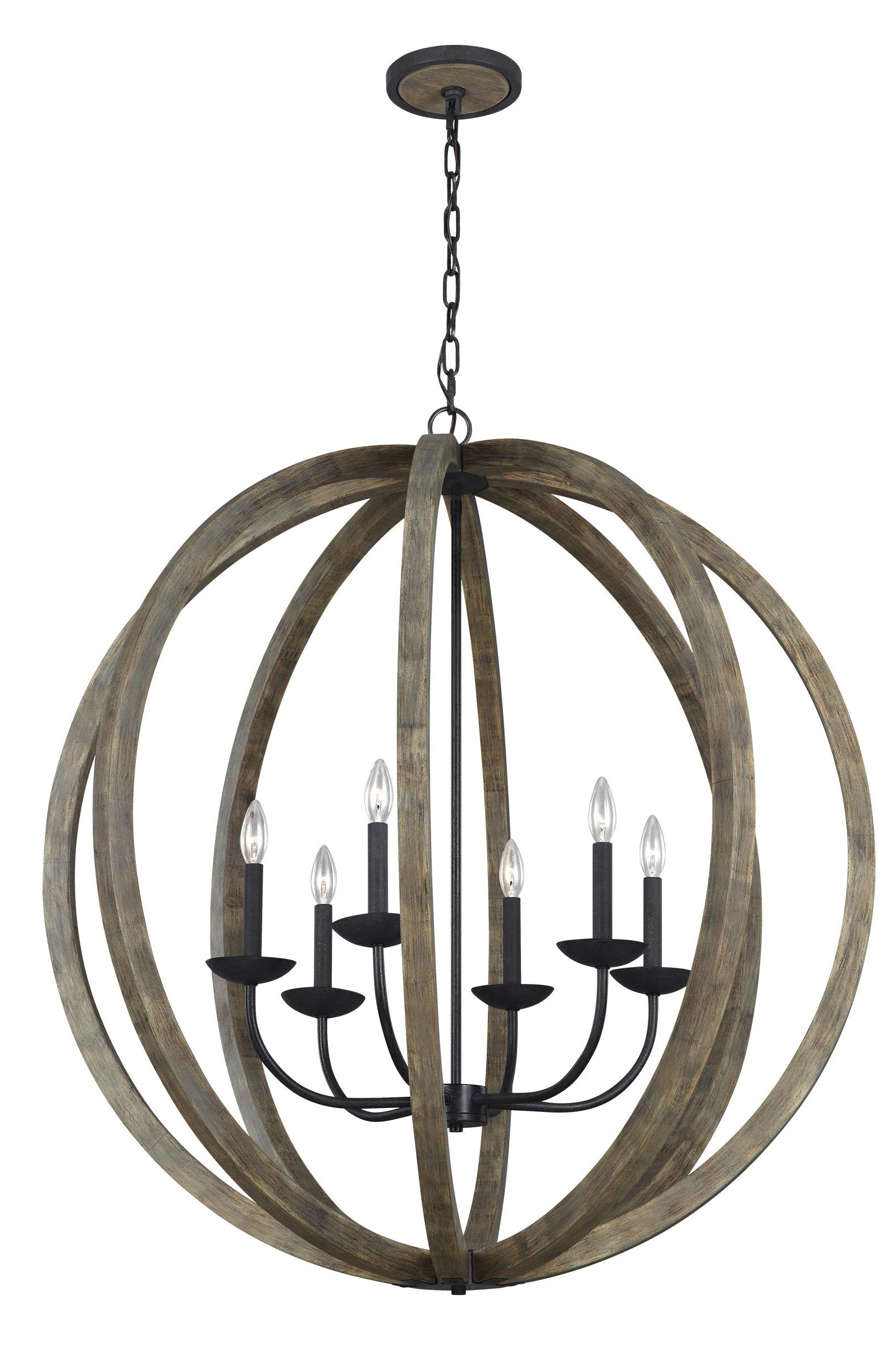 Recent Flavien 6-Light Globe Chandelier pertaining to Morganti 4-Light Chandeliers