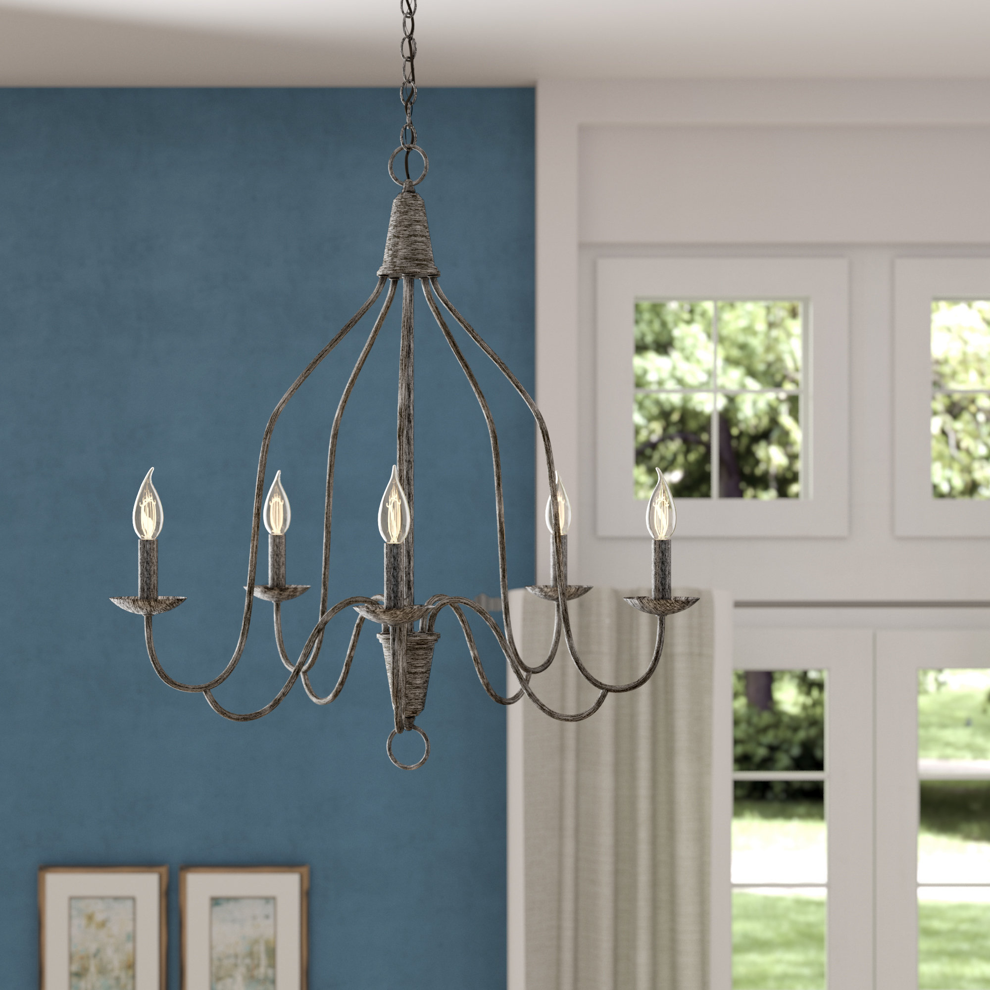 Recent Florentina 5-Light Candle Style Chandeliers in Ophelia & Co. Geeta 5-Light Candle Style Chandelier