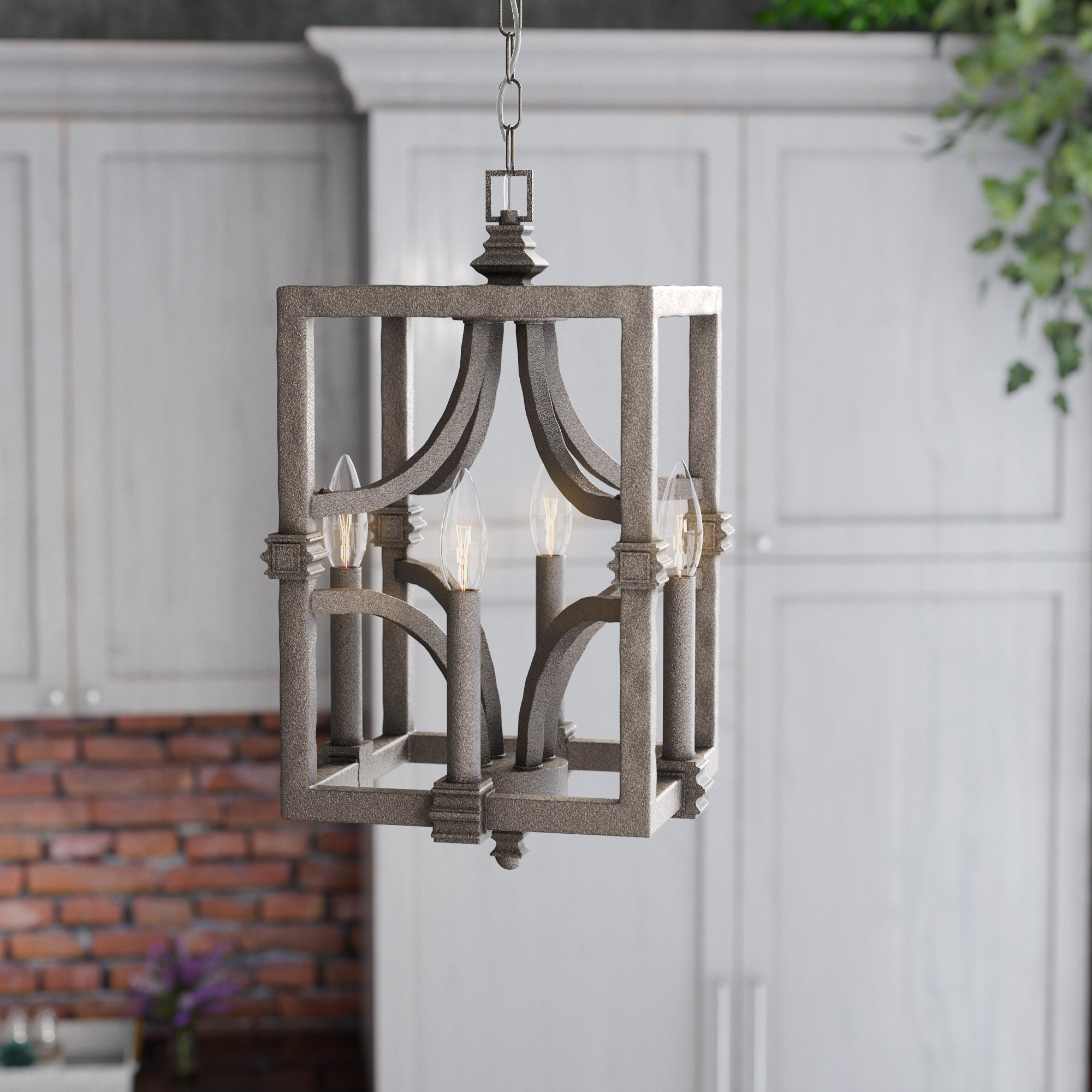 Recent Freeburg 4-Light Lantern Square / Rectangle Pendant intended for Freeburg 4-Light Lantern Square / Rectangle Pendants