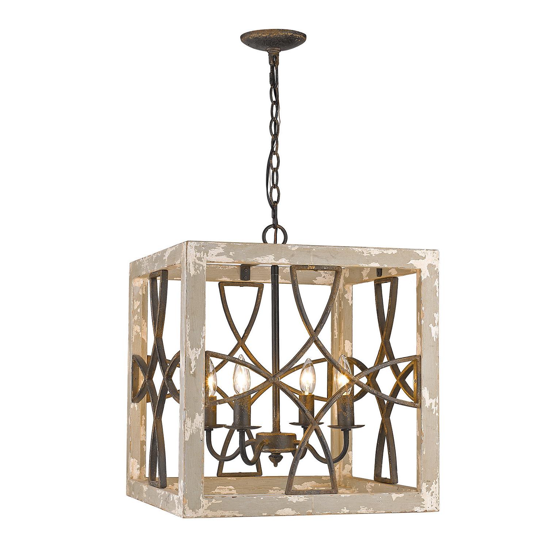 Recent Freeburg 4 Light Lantern Square / Rectangle Pendants With Regard To Baudette 4 Light Square Pendant (View 11 of 25)