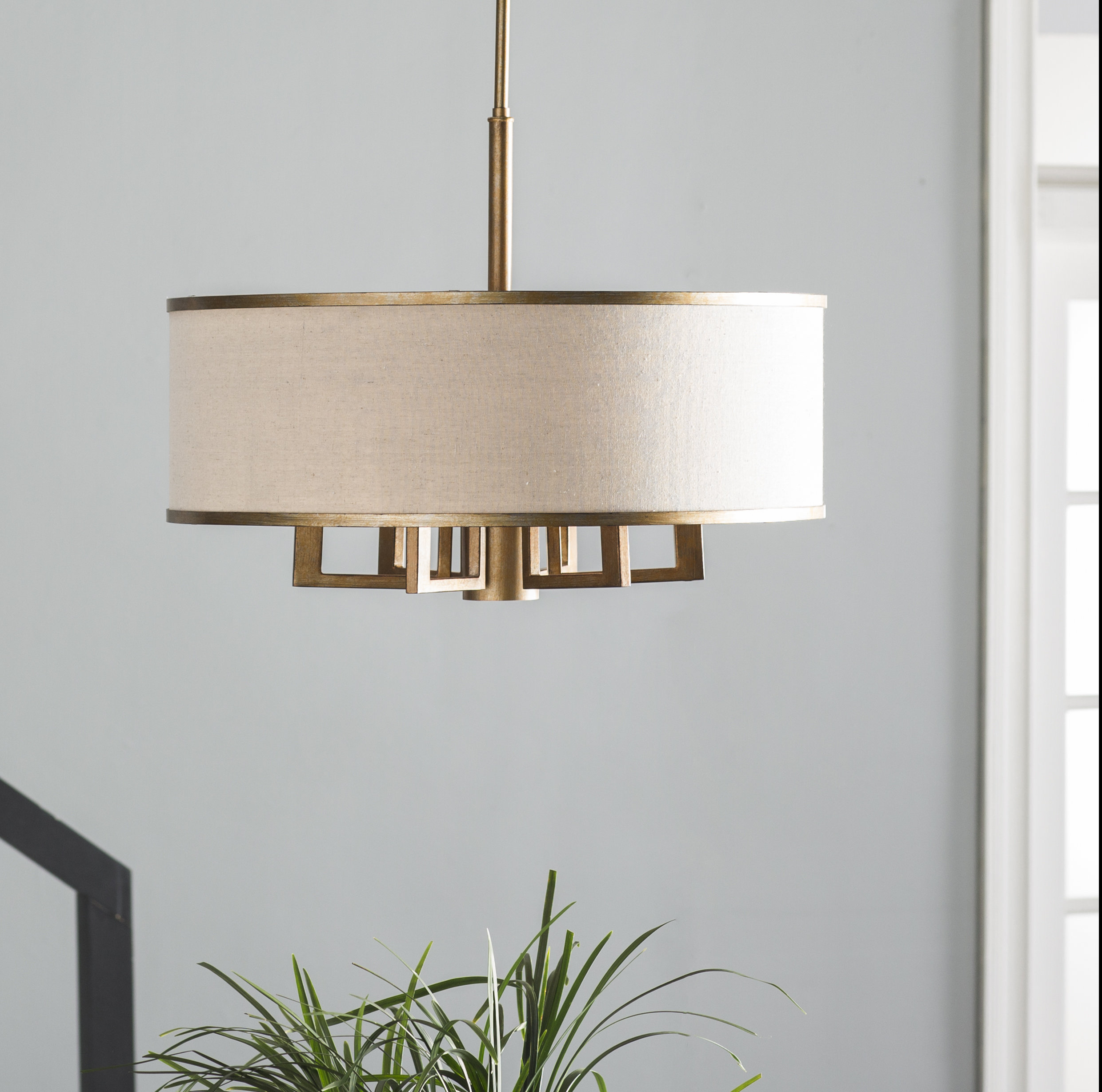Recent Friedland 3 Light Drum Tiered Pendants With Breithaup 7 Light Drum Chandelier (View 12 of 25)