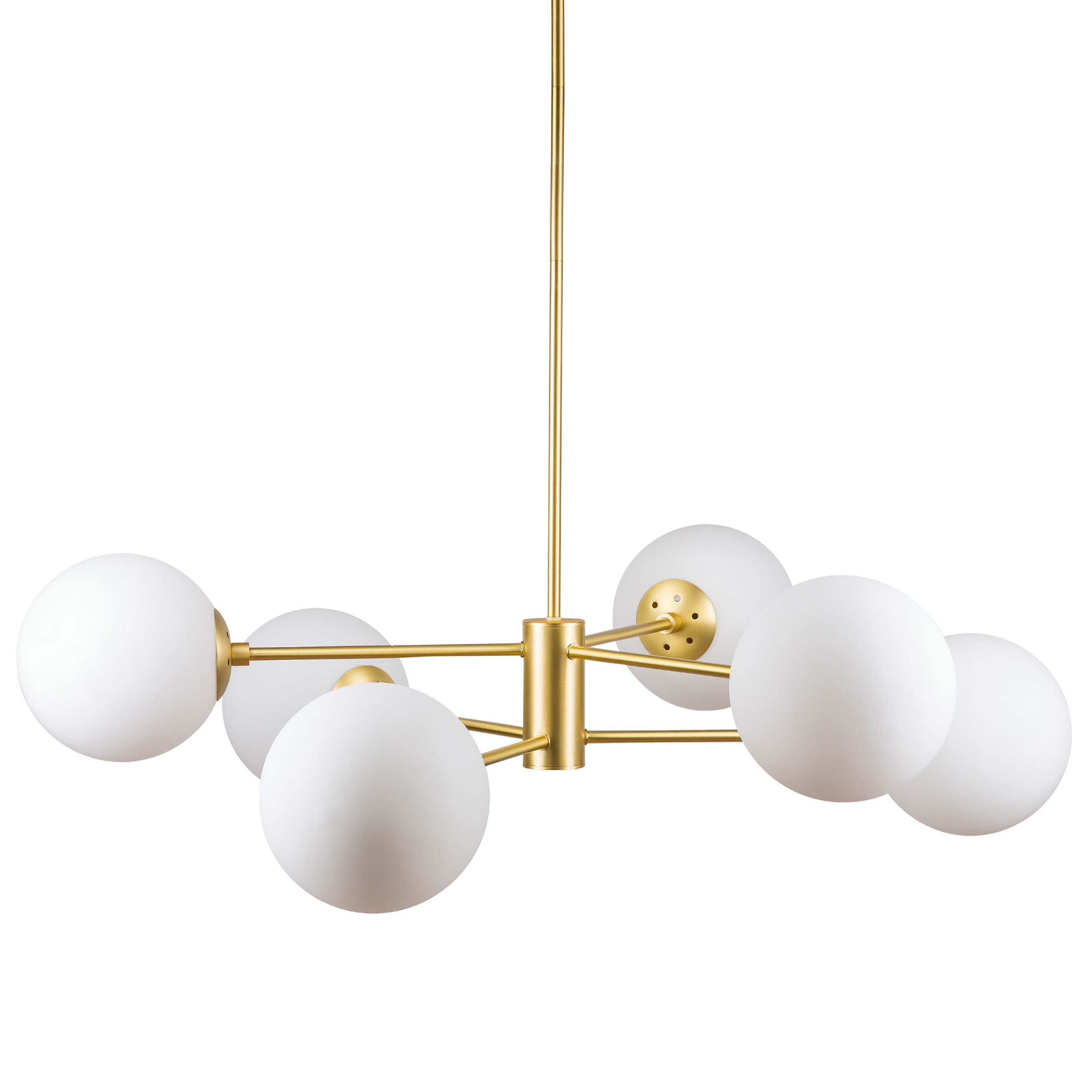 Recent Nyla 6 Light Chandelier With Silvia 6 Light Sputnik Chandeliers (View 10 of 25)