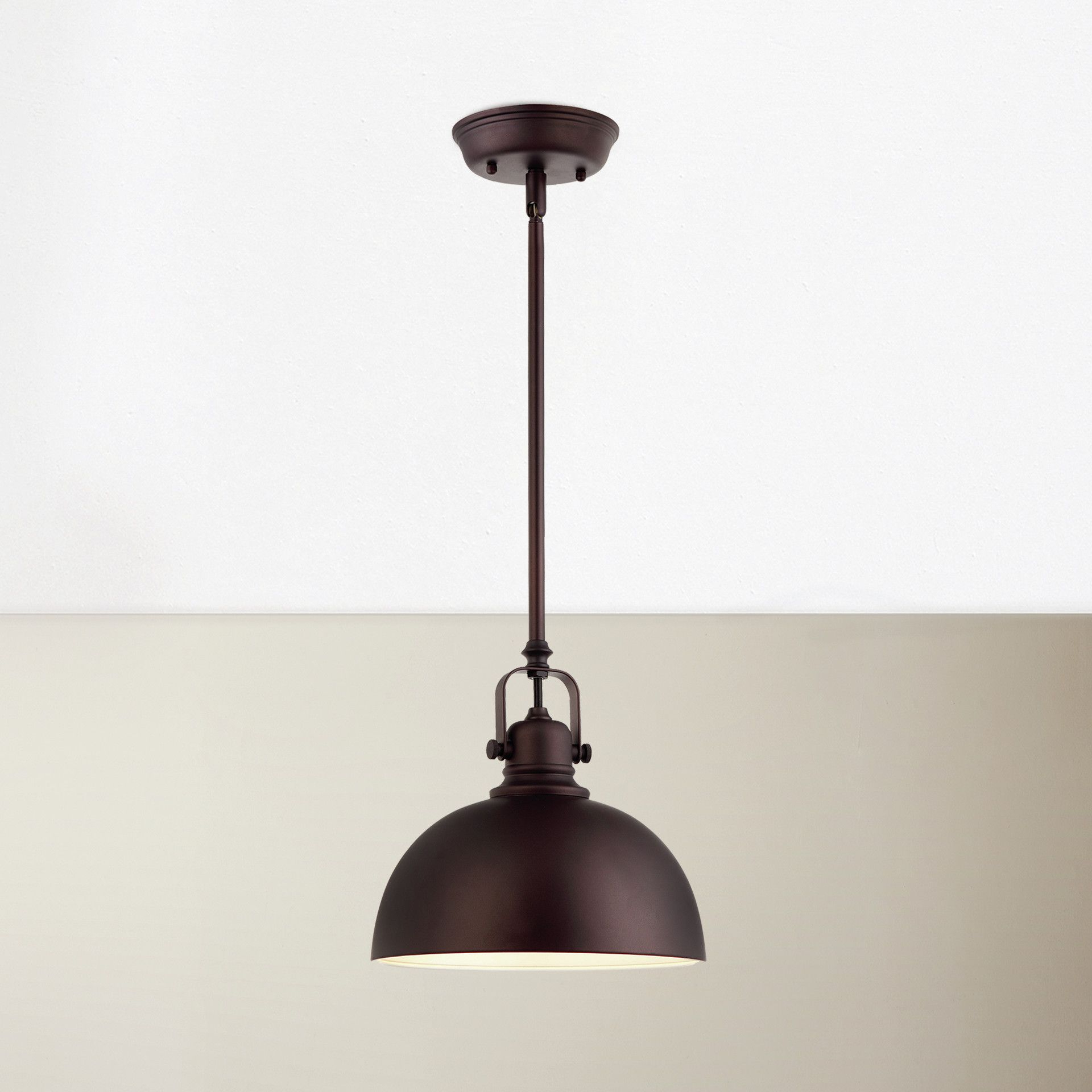 Recent Southlake 1 Light Single Dome Pendants With Breakwater Bay State Line 1 Light Bowl Pendant & Reviews (View 15 of 25)