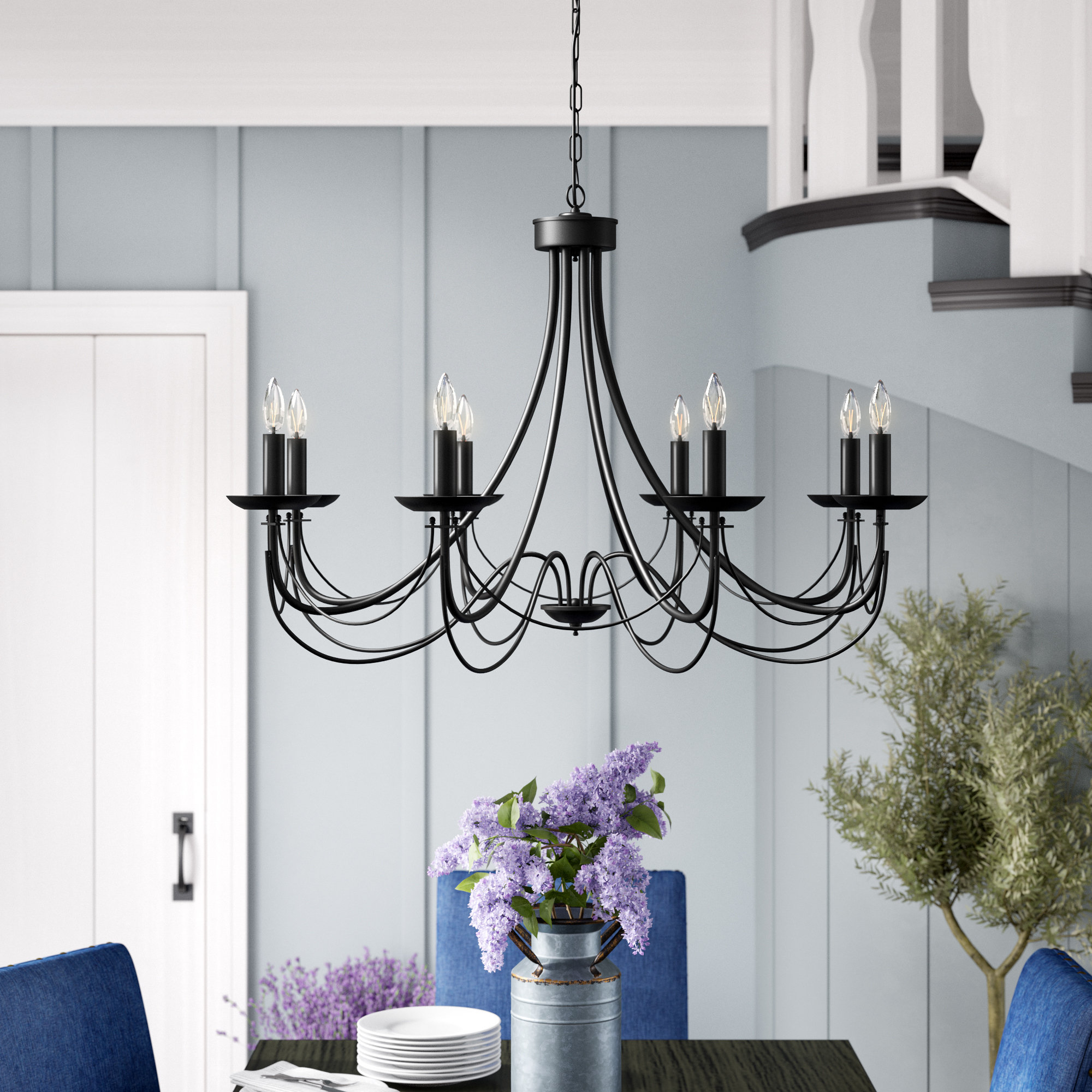 Recent Watford 6-Light Candle Style Chandeliers inside Ryckman Iron 8-Light Candle Style Chandelier