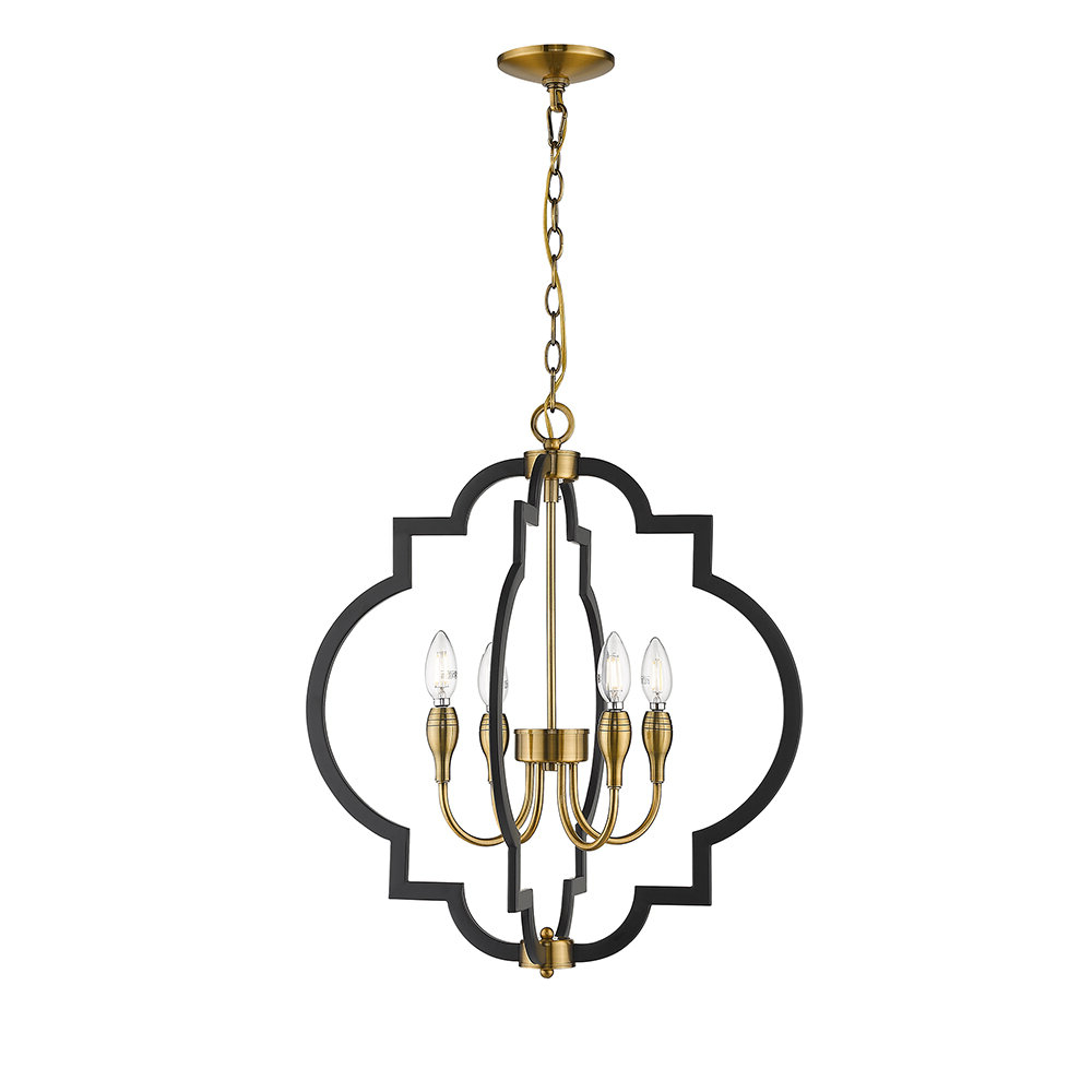 Reidar 4 Light Geometric Chandeliers Within Widely Used Tamara 4 Light Geometric Chandelier (View 8 of 25)