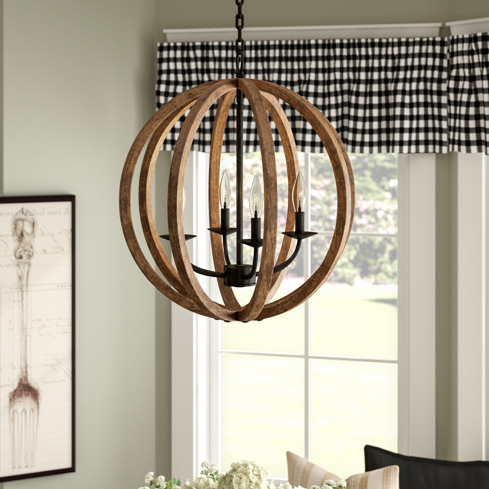 Ricciardo 4 Light Globe Chandeliers Within Most Popular Birch Lane Ricciardo 4 Light Globe Chandelier & Reviews (View 2 of 25)