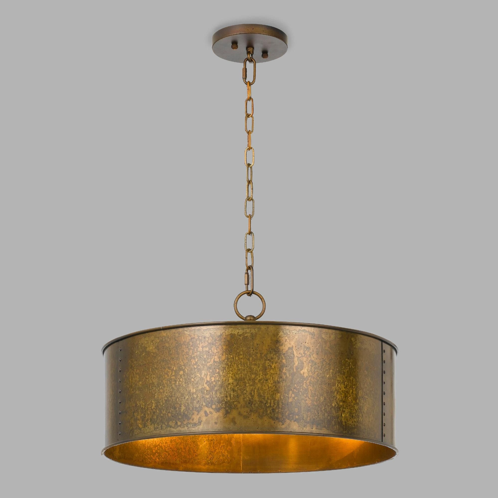 Rockland 4 Light Geometric Pendants Inside Well Liked Gold Patina 3 Light Winta Pendant (View 15 of 25)
