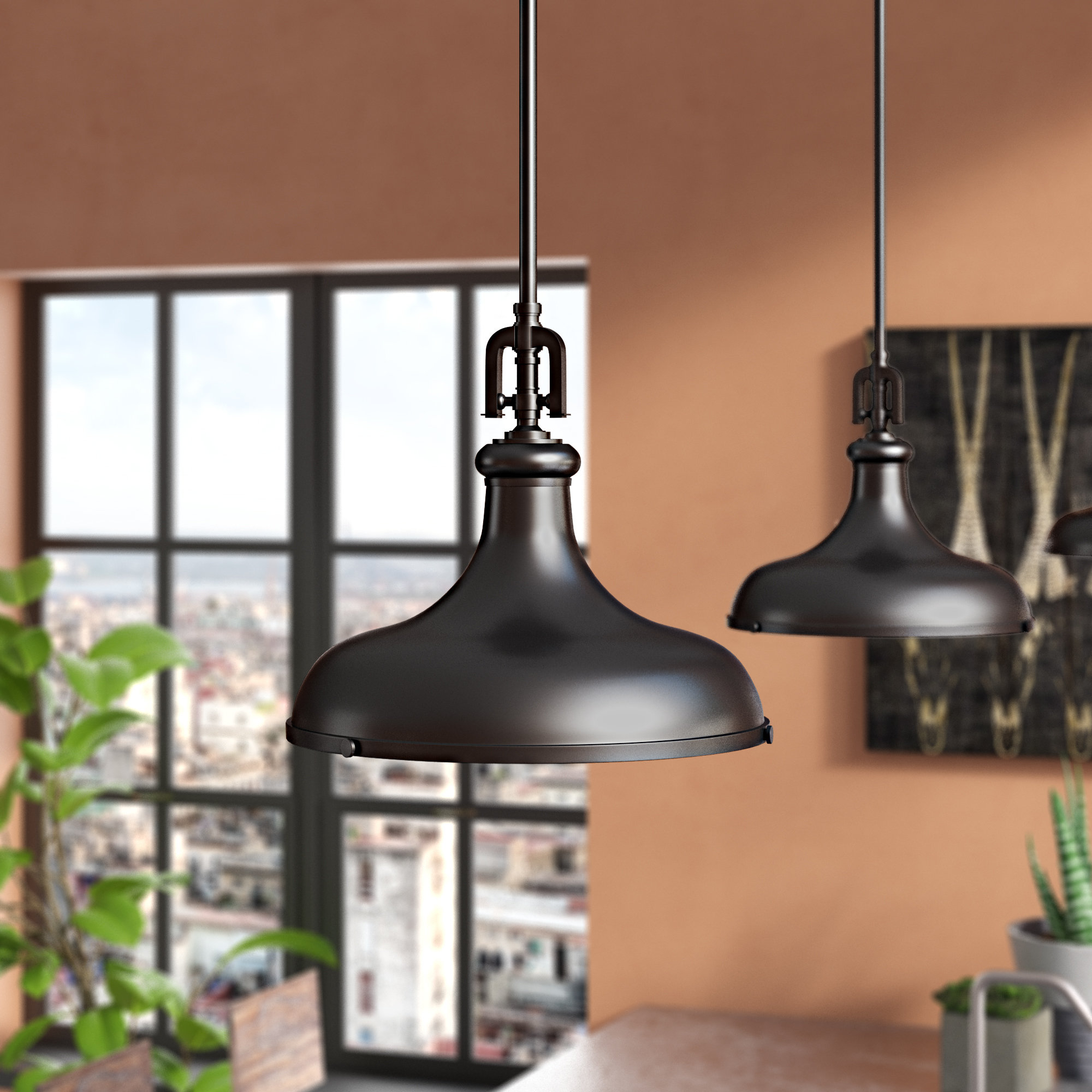 Rockridge 1-Light Single Dome Pendant within Well-known Abordale 1-Light Single Dome Pendants
