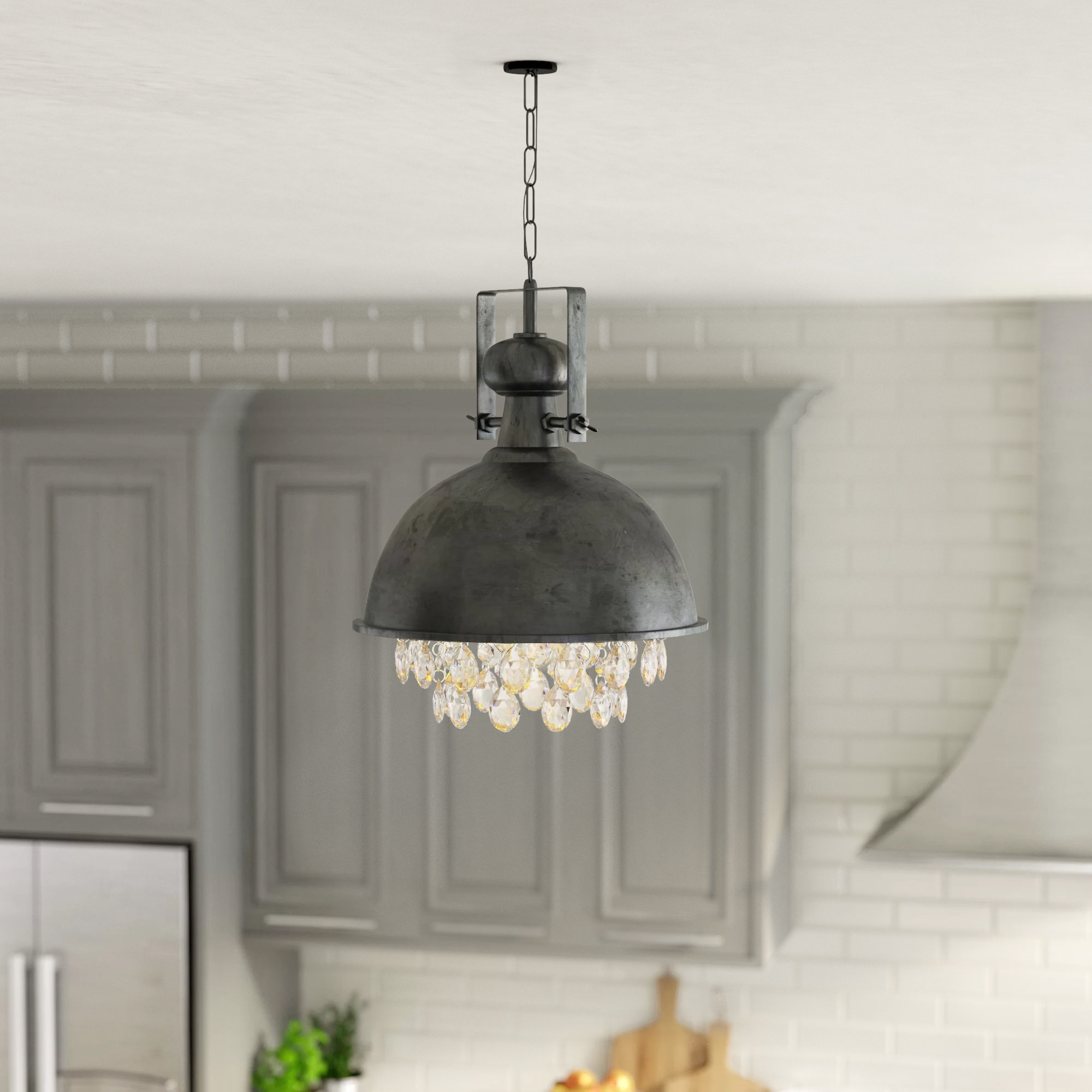 Rosenbloom 1 – Light Dome Pendant Pertaining To Well Liked Monadnock 1 Light Single Dome Pendants (View 11 of 25)