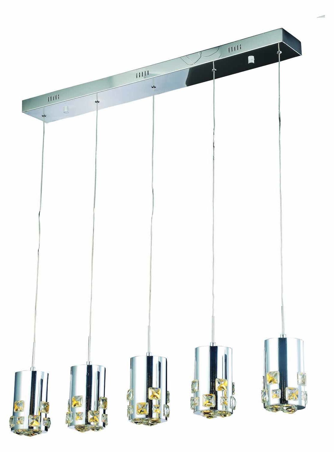 Royce 5 Light Led Kitchen Island Pendant In Most Popular Zachery 5 Light Led Cluster Pendants (View 16 of 25)