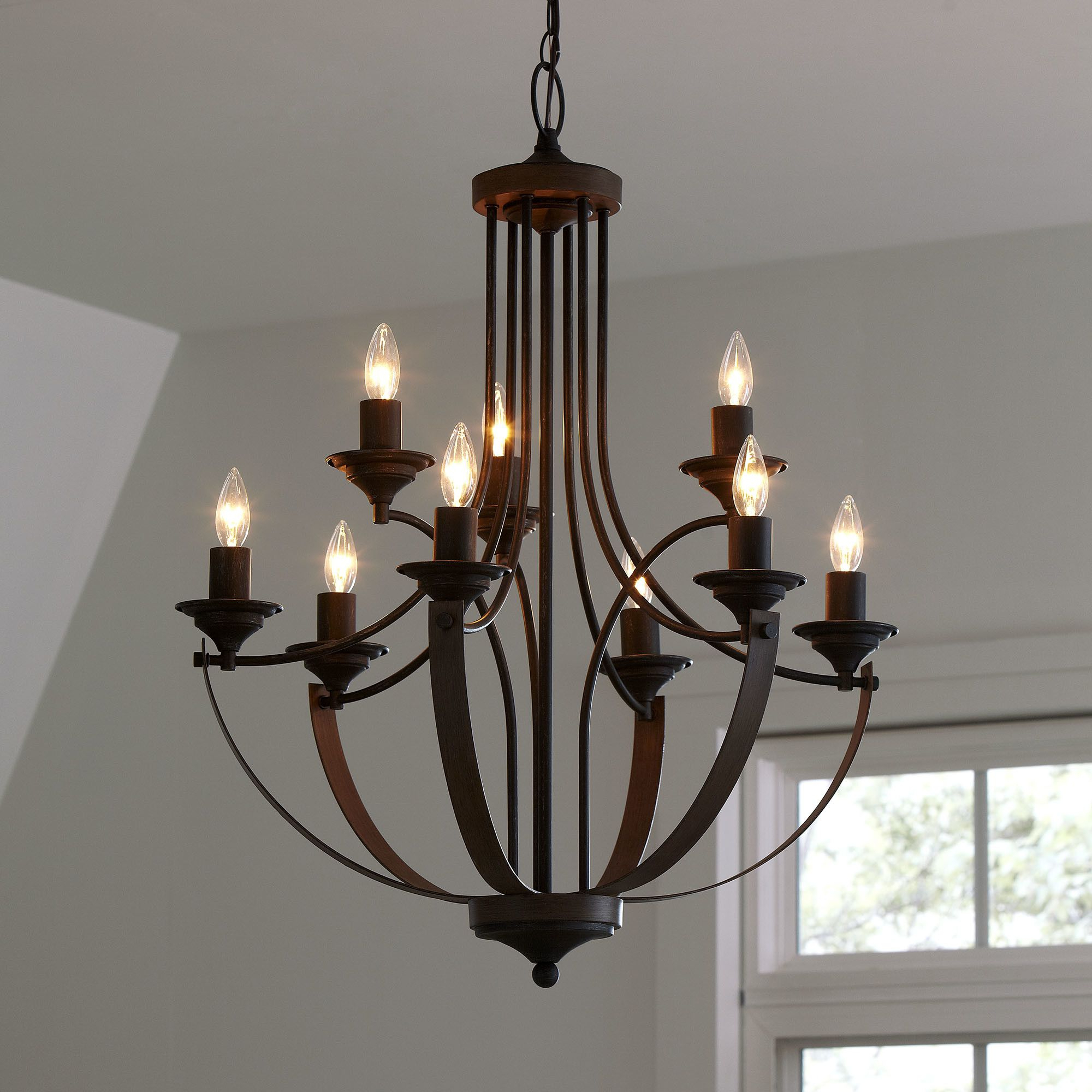 Rustic For Camilla 9 Light Candle Style Chandeliers (View 17 of 25)