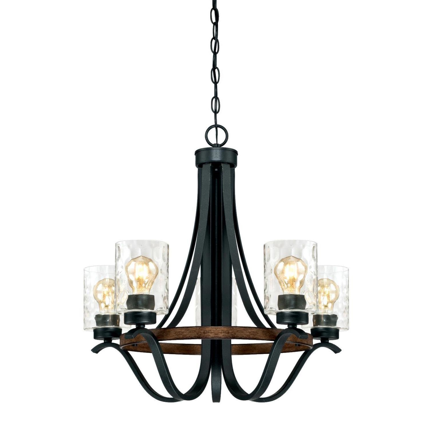 Sabo Indoor 5 Light Shaded Chandelier Intended For Well Known Crofoot 5 Light Shaded Chandeliers (View 22 of 25)