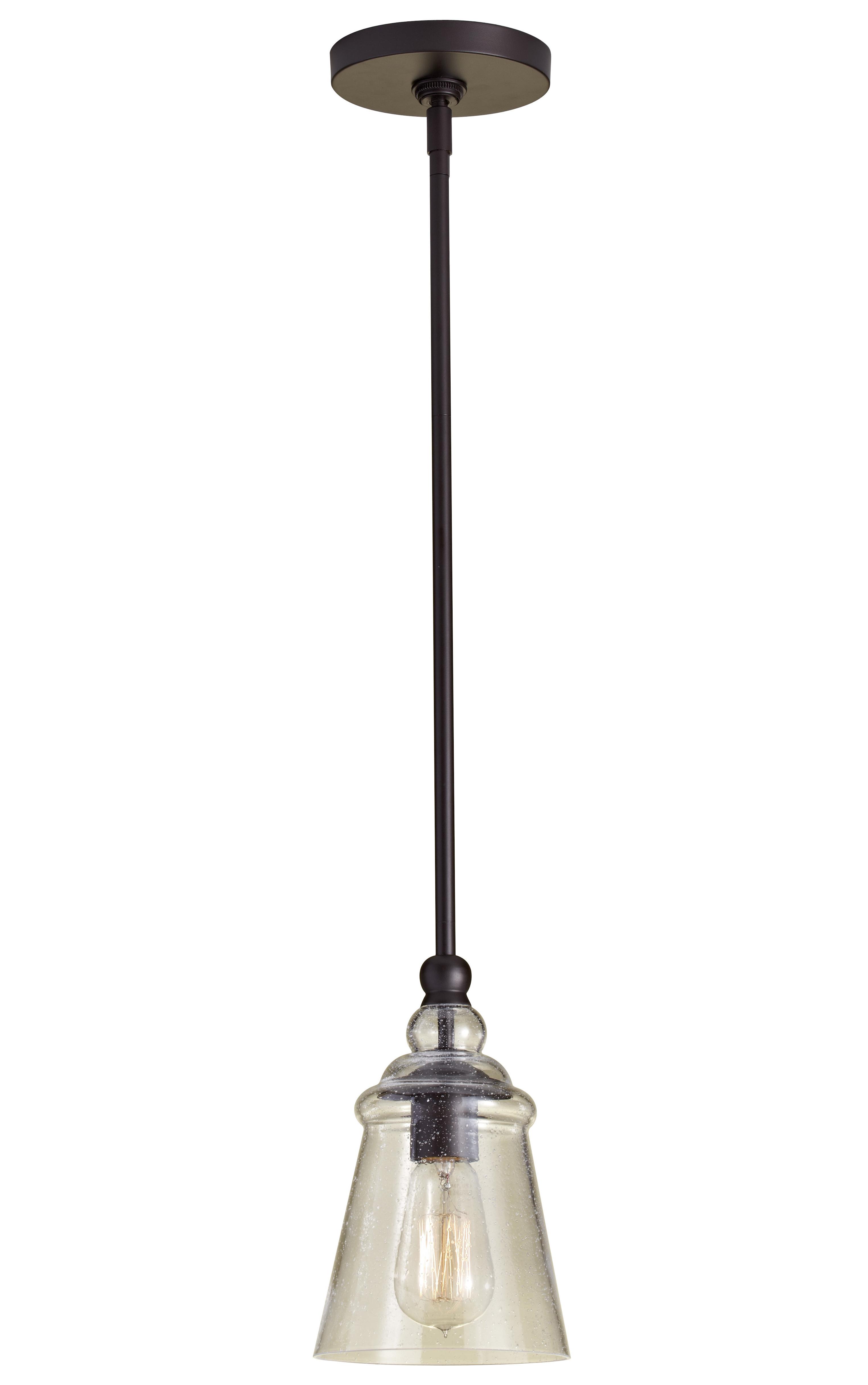 Sargent 1 Light Single Bell Pendant Intended For Most Recent Moyer 1 Light Single Cylinder Pendants (View 7 of 25)