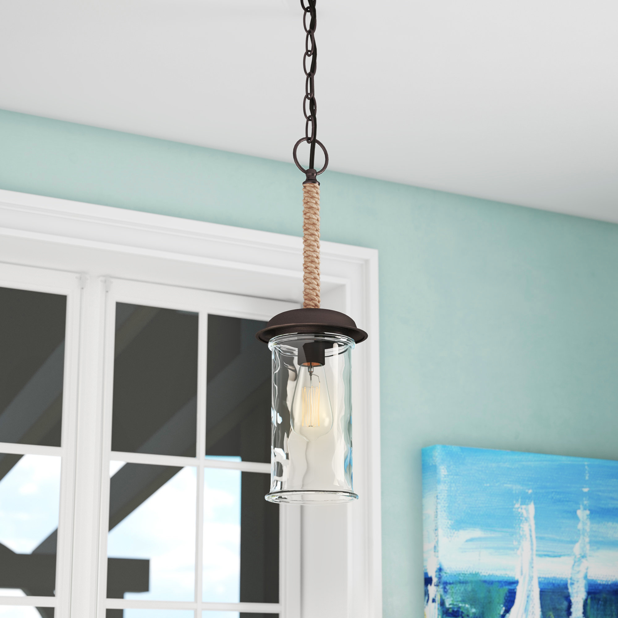 Schutt 1 Light Cylinder Pendants In Most Popular Clear/glass Shade Pendant Lighting You'll Love In  (View 16 of 25)