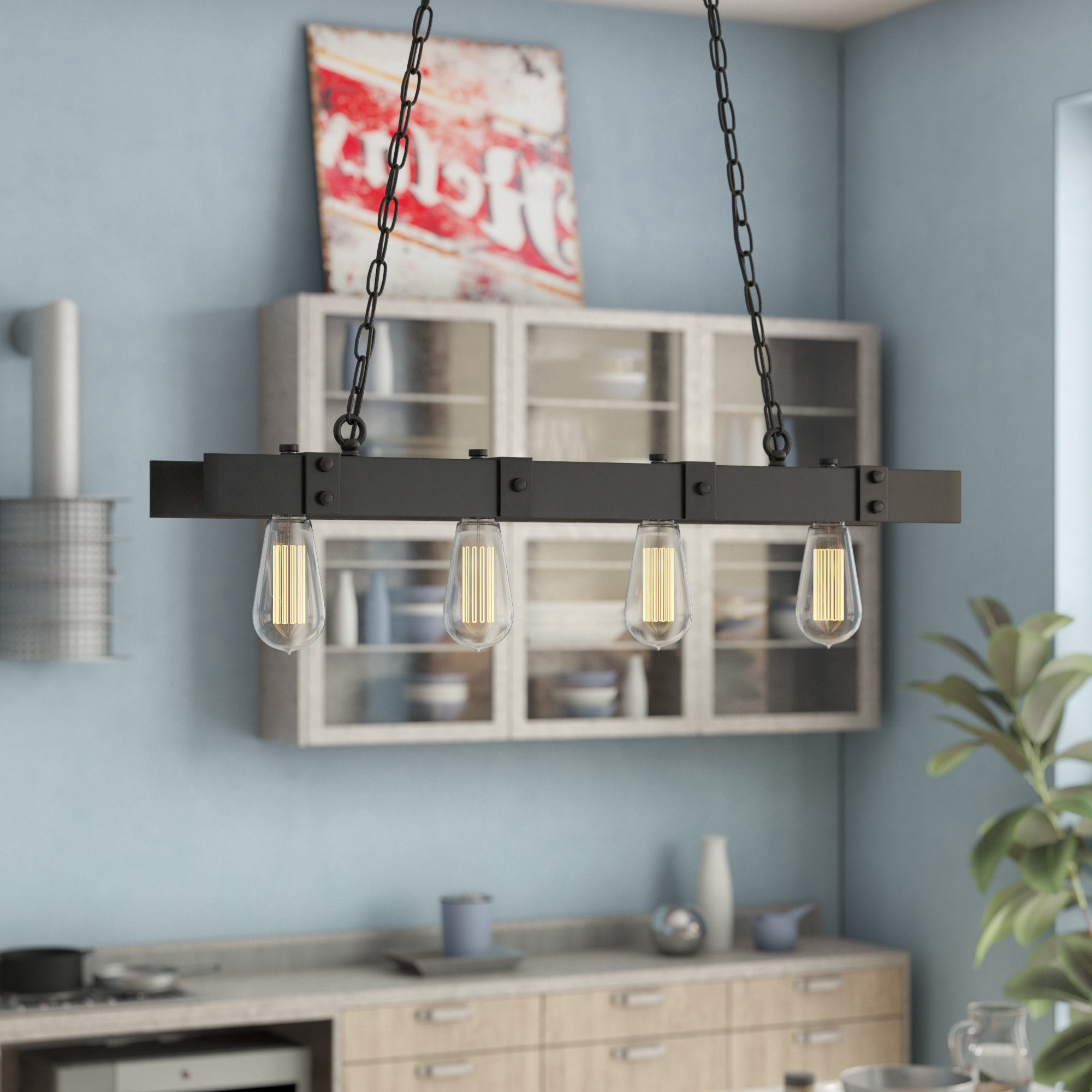 Schutt 4 Light Kitchen Island Pendants With Regard To Popular Kitchen Island Williston Forge Pendant Lighting You'll Love (View 3 of 25)