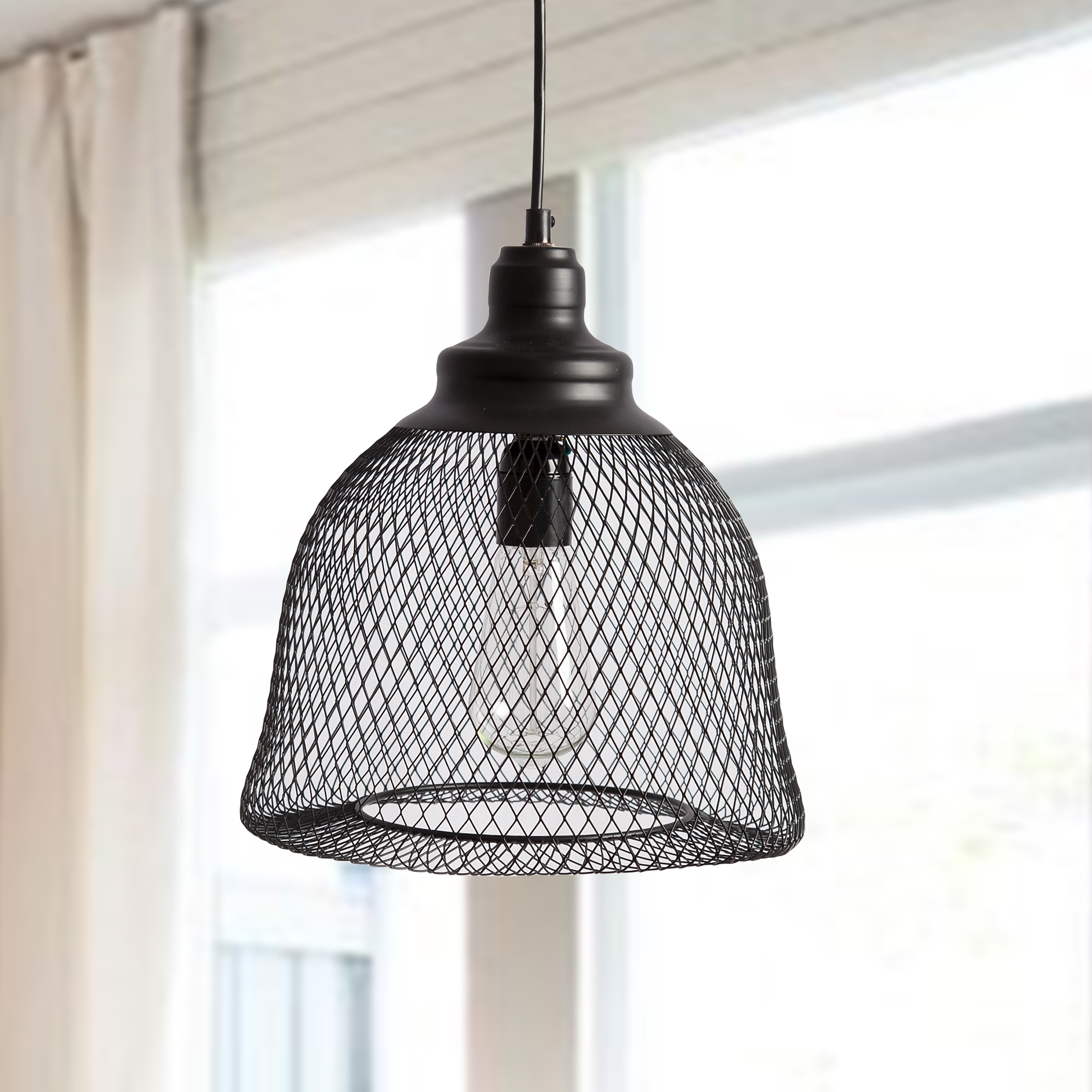 Scruggs 1 Light Geometric Pendants Within Best And Newest Mccandless 1 Light Single Bell Pendant (View 22 of 25)