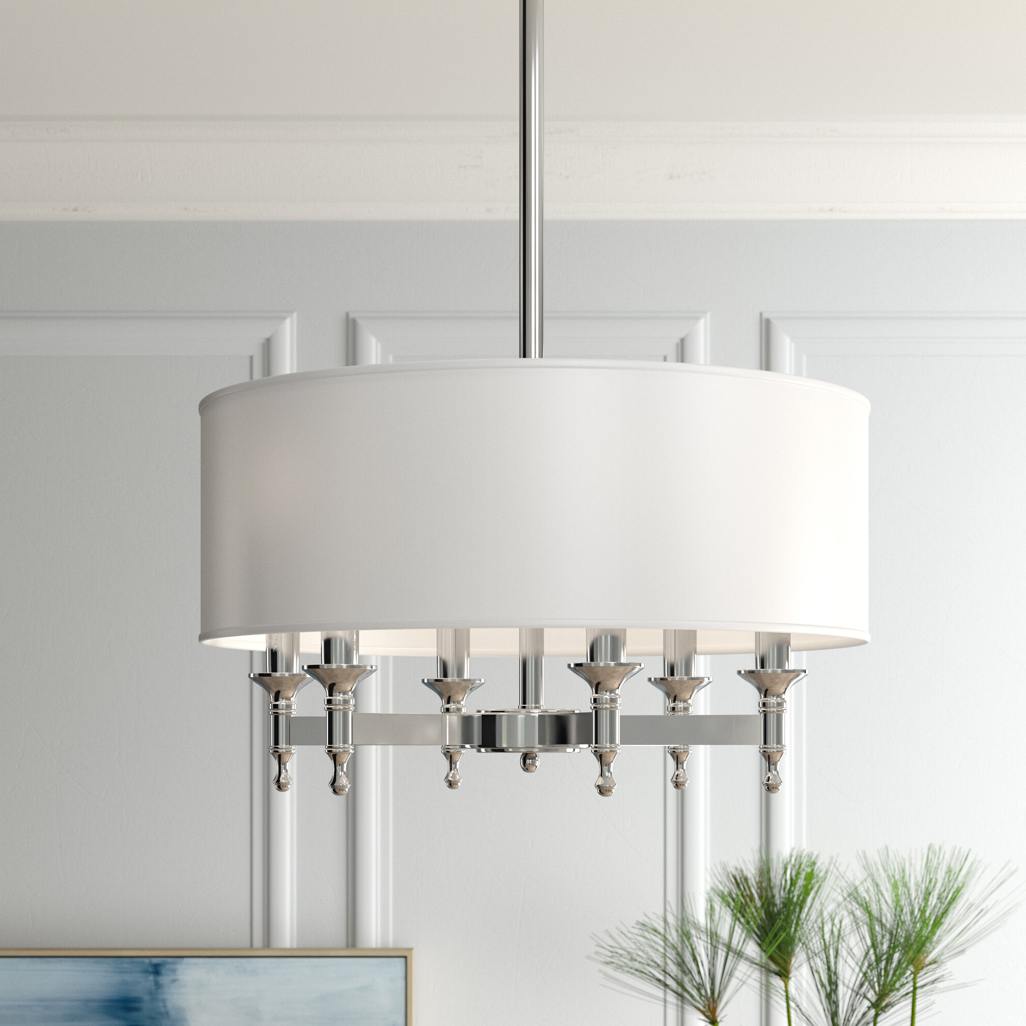 Shawna 6 Light Drum Chandelier With Recent Abel 5 Light Drum Chandeliers (View 12 of 25)