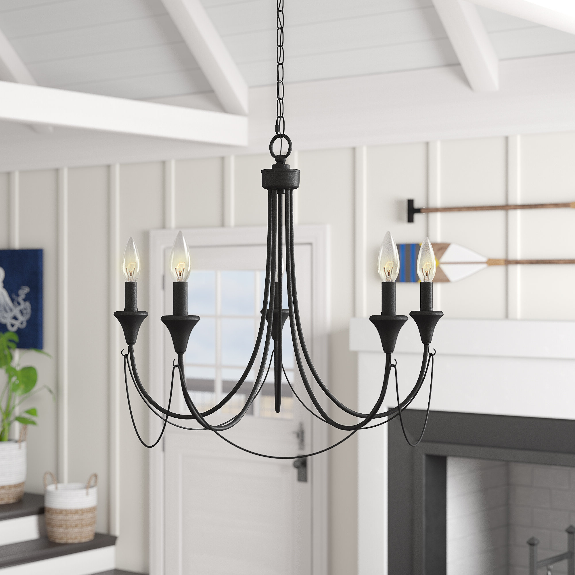 Shaylee 5 Light Candle Style Chandeliers Intended For Recent Walczak 5 Light Candle Style Chandelier (View 8 of 25)