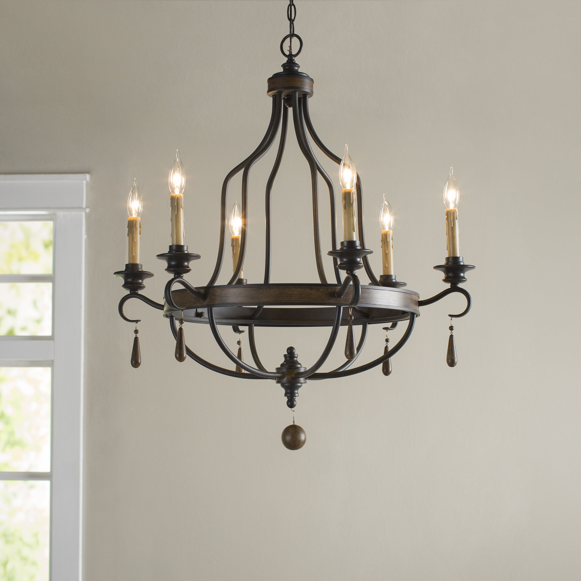 Sherri 6 Light Chandeliers For Latest Birch Lane™ Heritage Jamesburg 6 Light Chandelier (View 10 of 25)