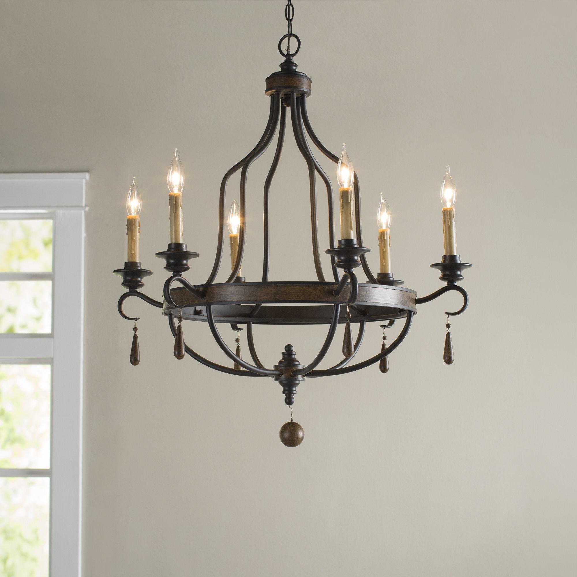 Sherri 6 Light Chandeliers For Latest Birch Lane™ Heritage Jamesburg 6 Light Chandelier (View 16 of 25)