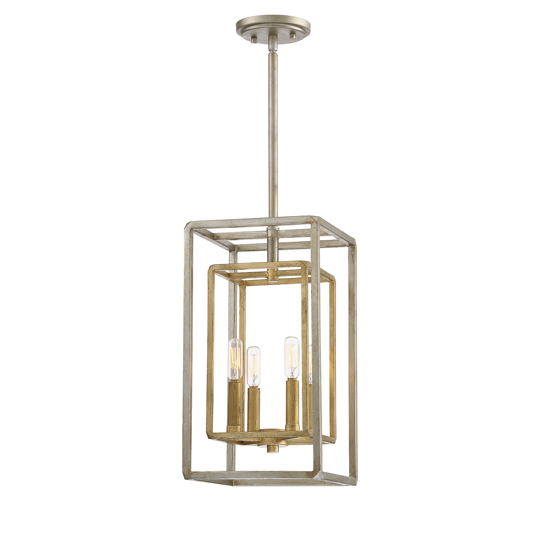 Sherri Ann 3 Light Lantern Square / Rectangle Pendants Inside Well Liked Eglantina 4 Light Lantern Square / Rectangle Pendant (View 15 of 25)