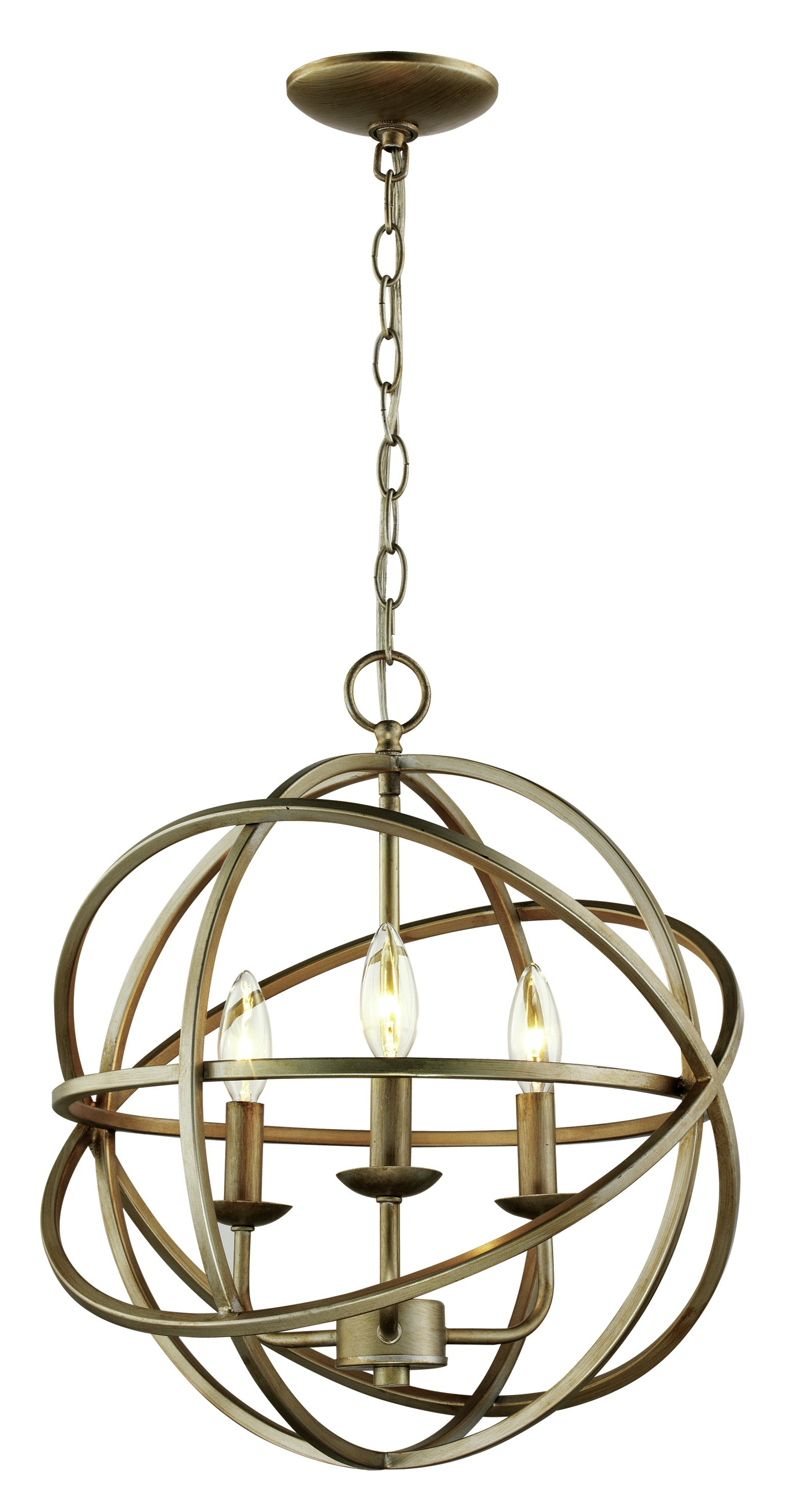 Shipststour 3 Light Globe Chandeliers With Regard To Widely Used Baitz 3 Light Globe Chandelier (View 6 of 25)