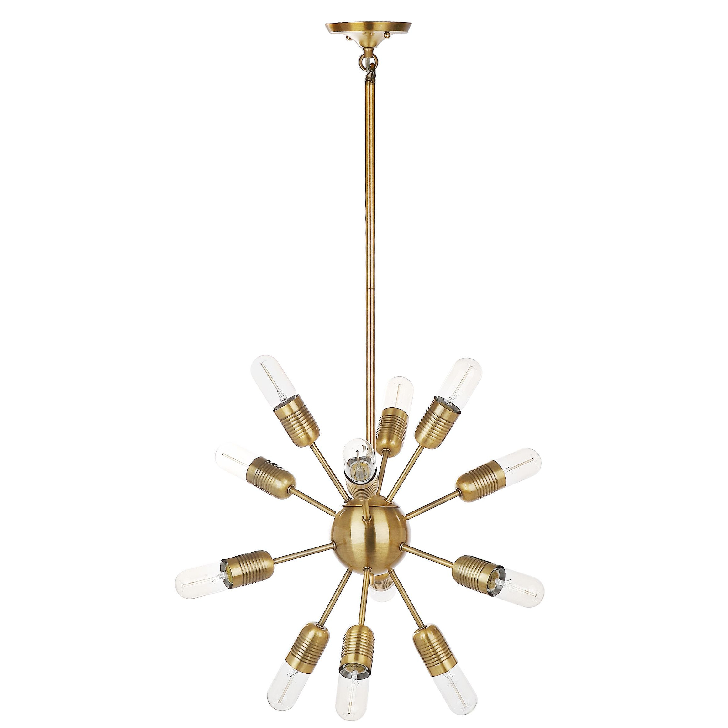 Silvia 6 Light Sputnik Chandeliers With Regard To Favorite Raging 12 Light Solace Pendant Lamp (View 19 of 25)