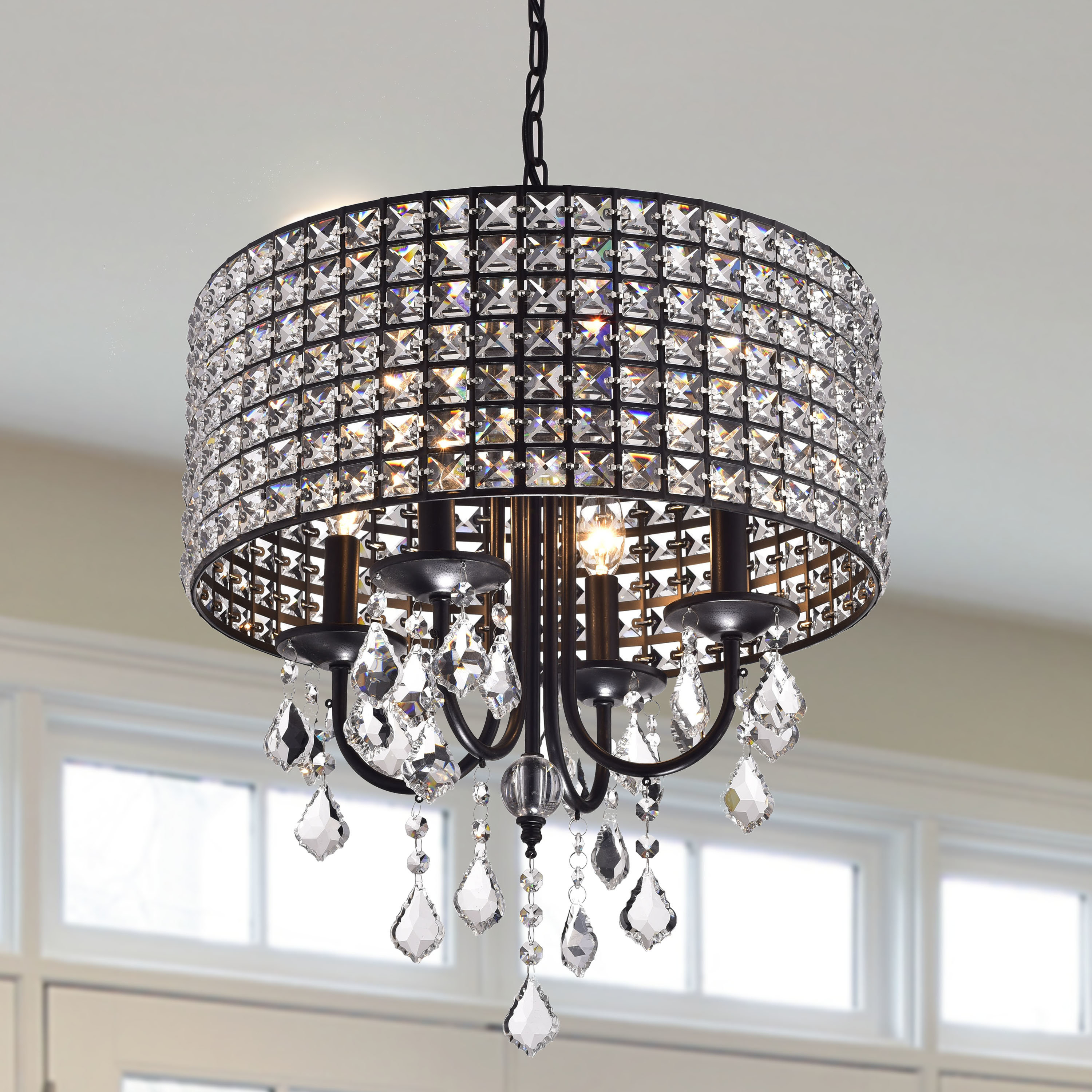 Sinead 4 Light Chandeliers With Recent Albano 4 Light Crystal Chandelier (View 7 of 25)