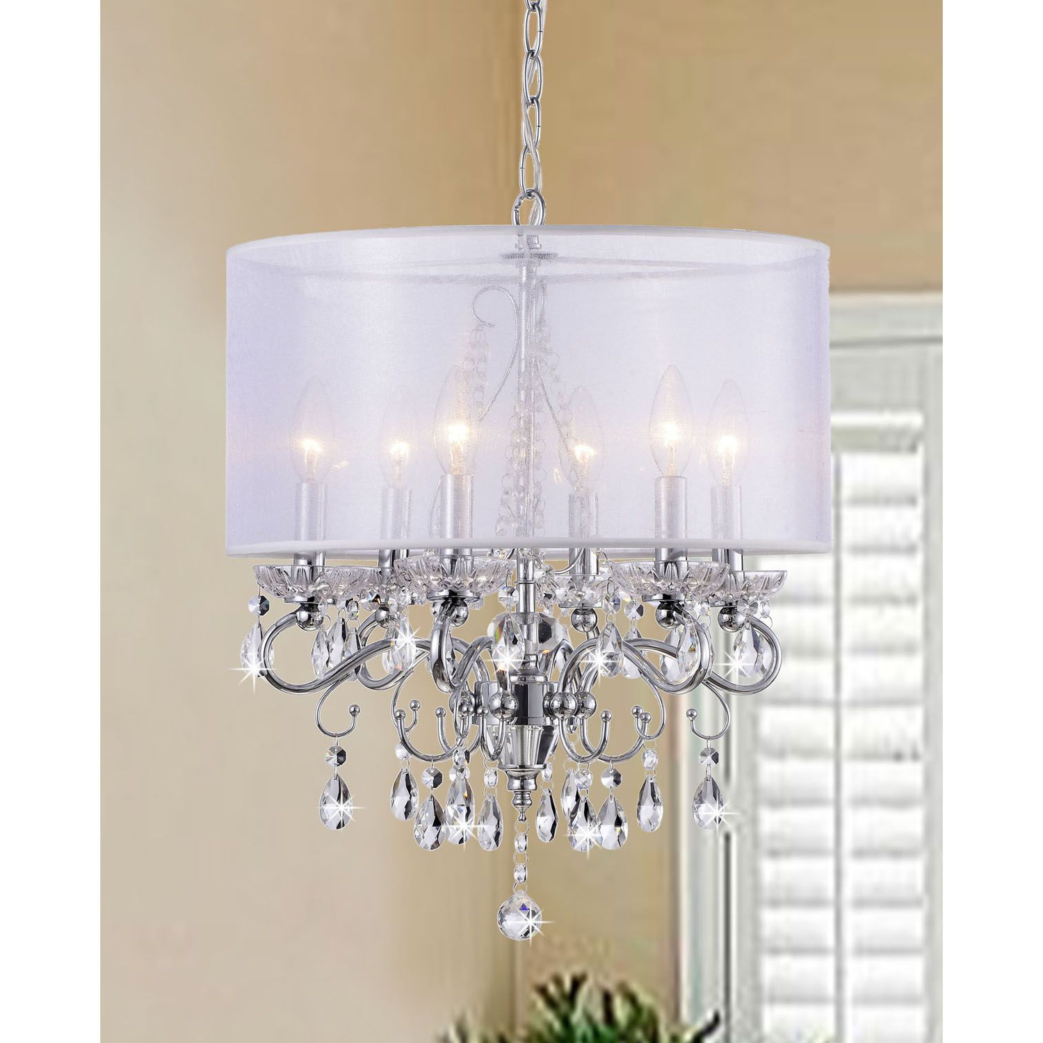 Sinead 4 Light Chandeliers With Regard To Trendy Create An Elegant Ambience In Your Home With This Crystal (View 18 of 25)