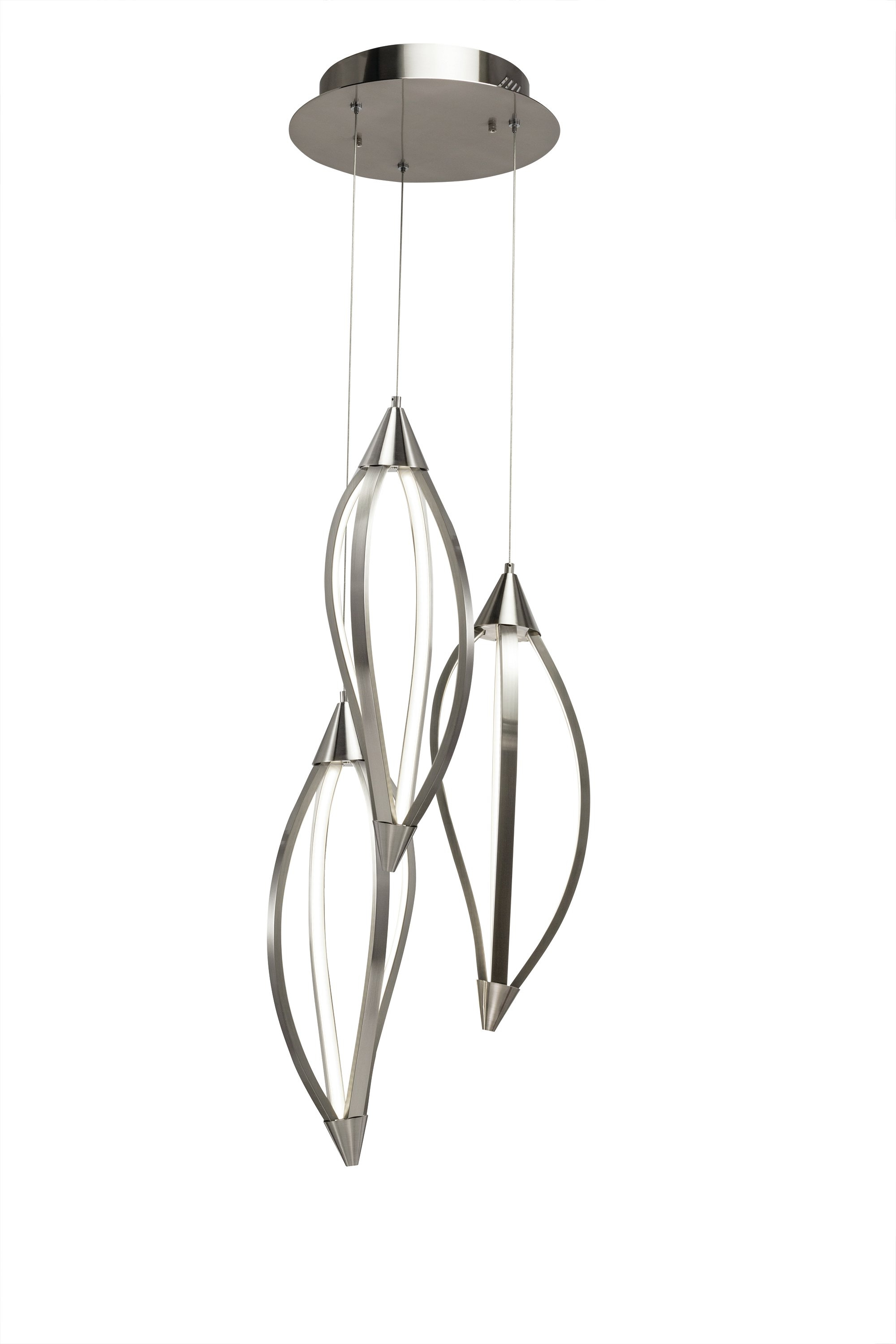 Sophie 3 Light Cluster Geometric Pendant Within 2019 Berenice 3 Light Cluster Teardrop Pendants (View 13 of 25)