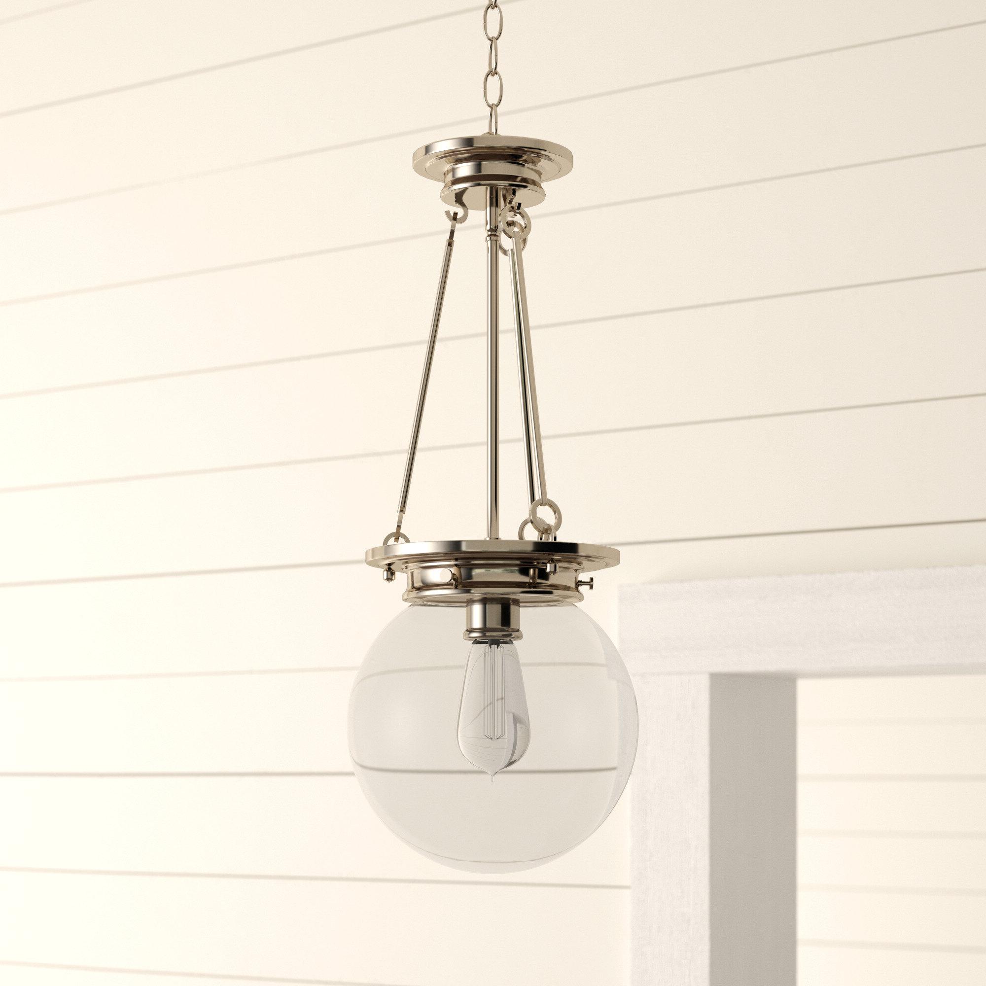 Spokane 1 Light Single Urn Pendants For Current Birch Lane™ Heritage Glencoe 1 Light Globe Pendant (View 15 of 25)