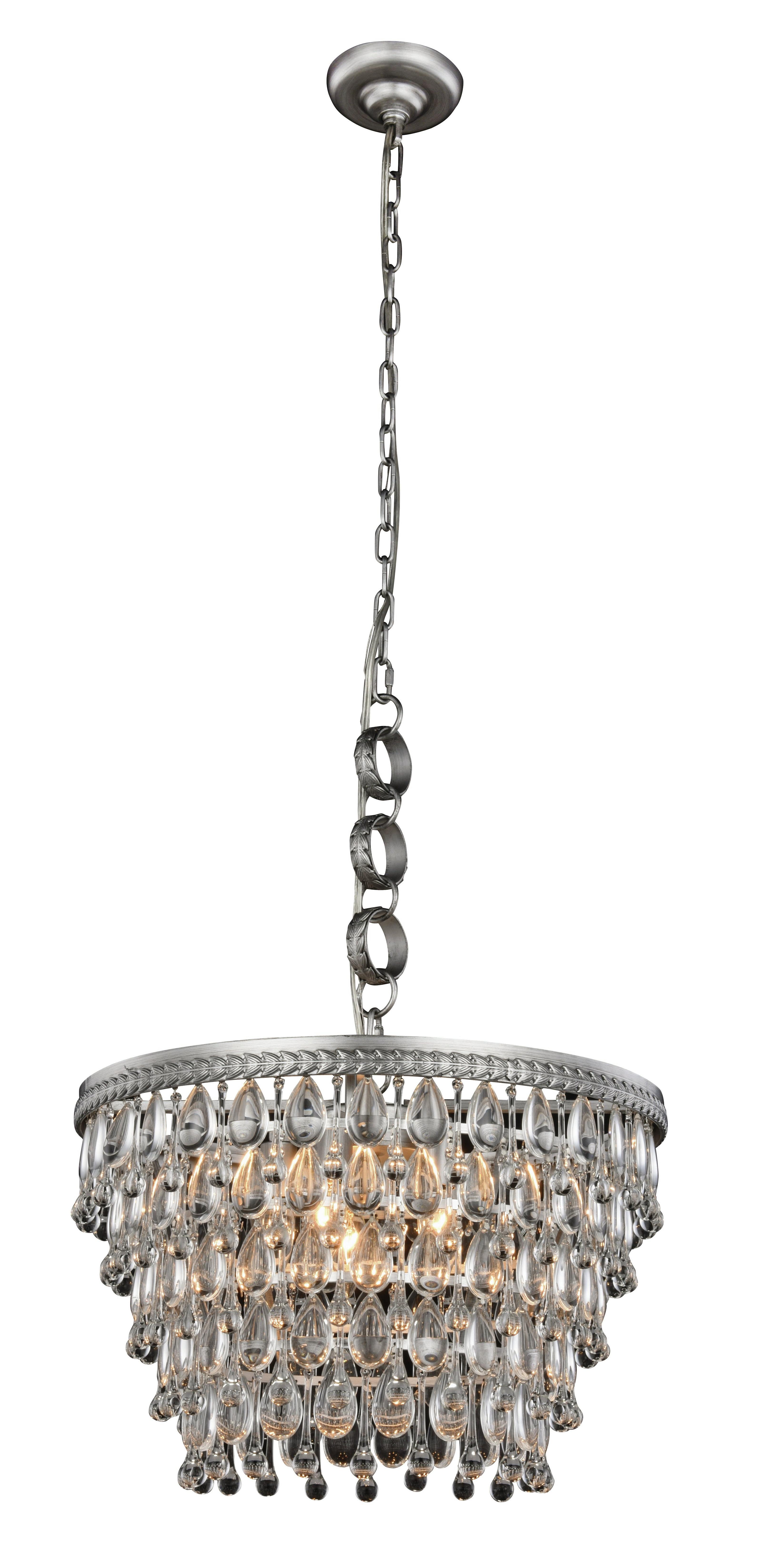 Spokane 1 Light Single Urn Pendants In Famous Esmeraude 5 Light Chandelier (View 18 of 25)
