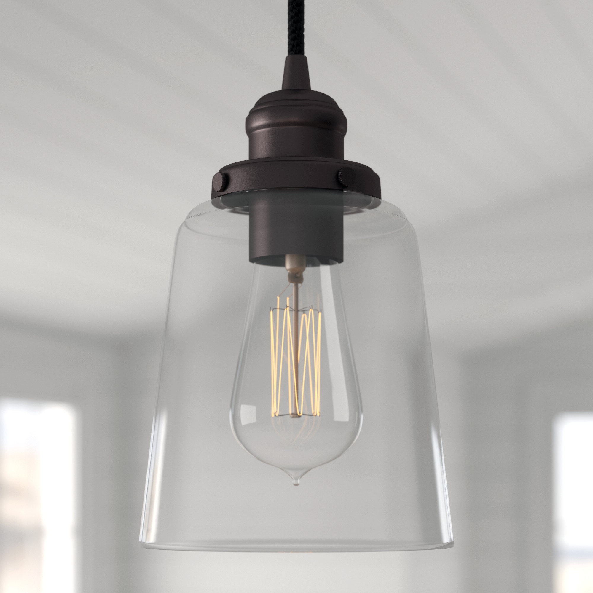 Sue 1 Light Single Jar Pendants In 2019 1 Light Cone Pendant (View 5 of 25)